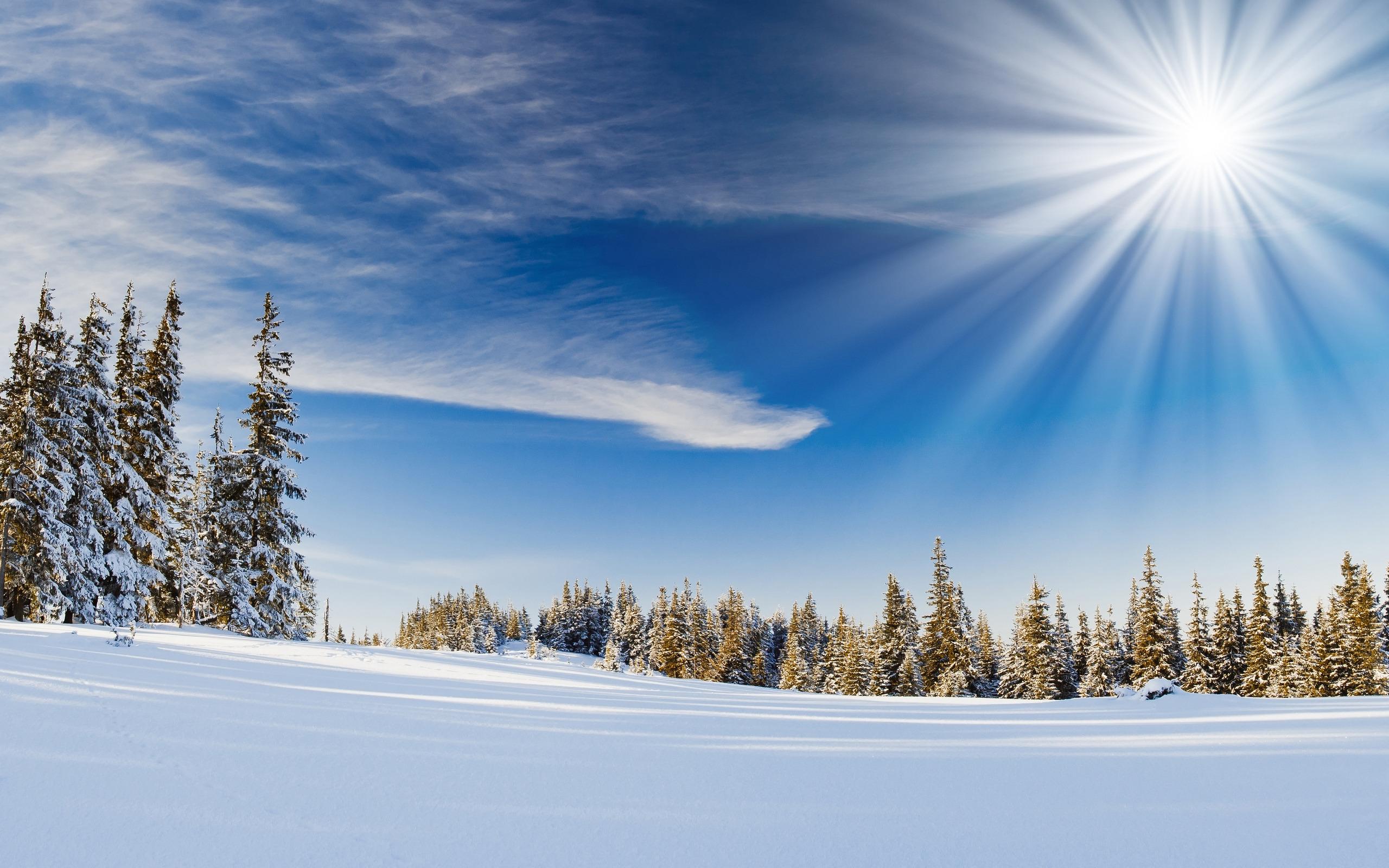 природа водопад снег небо облака зима загрузить