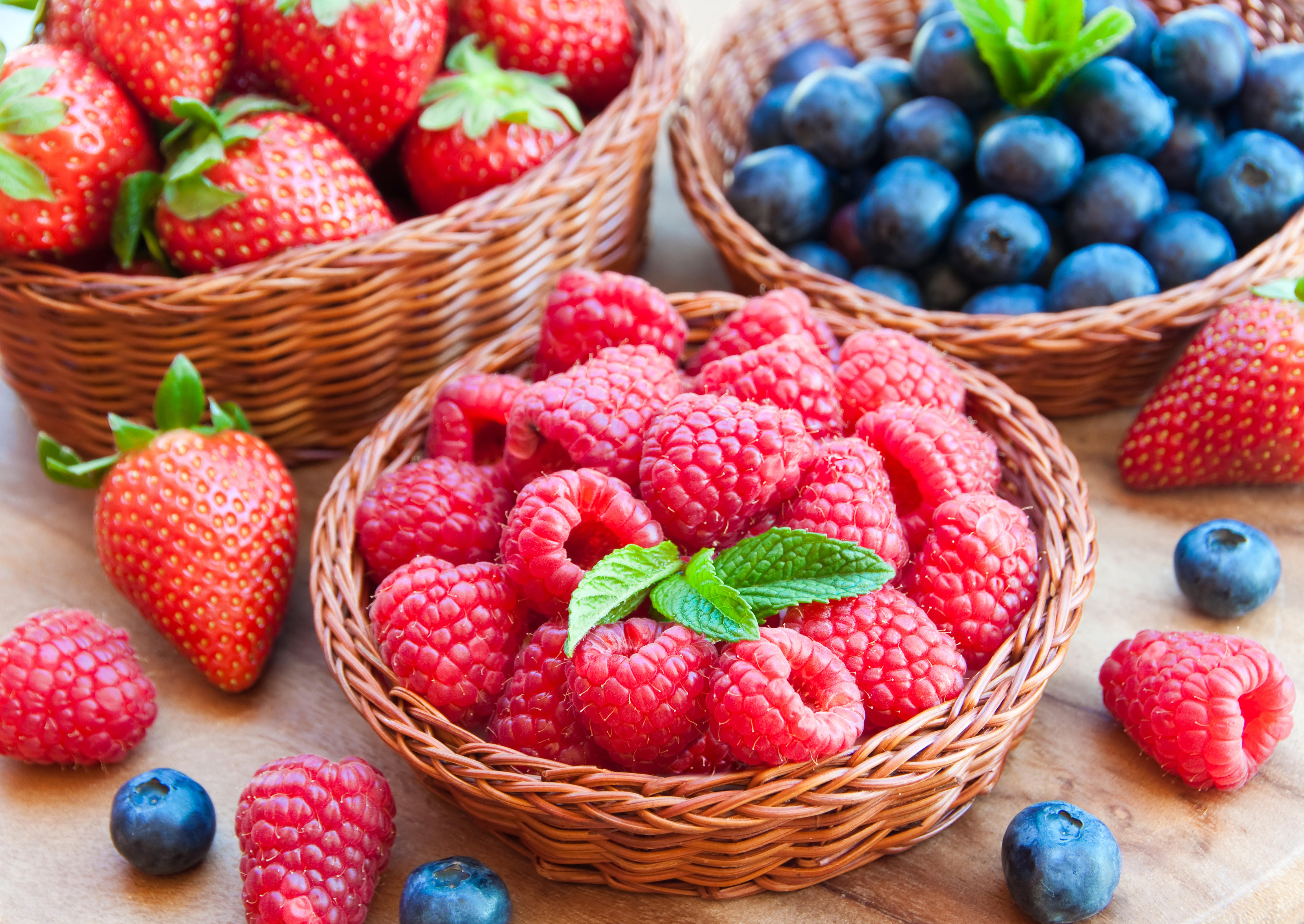 Малина, клубника, ягоды без смс