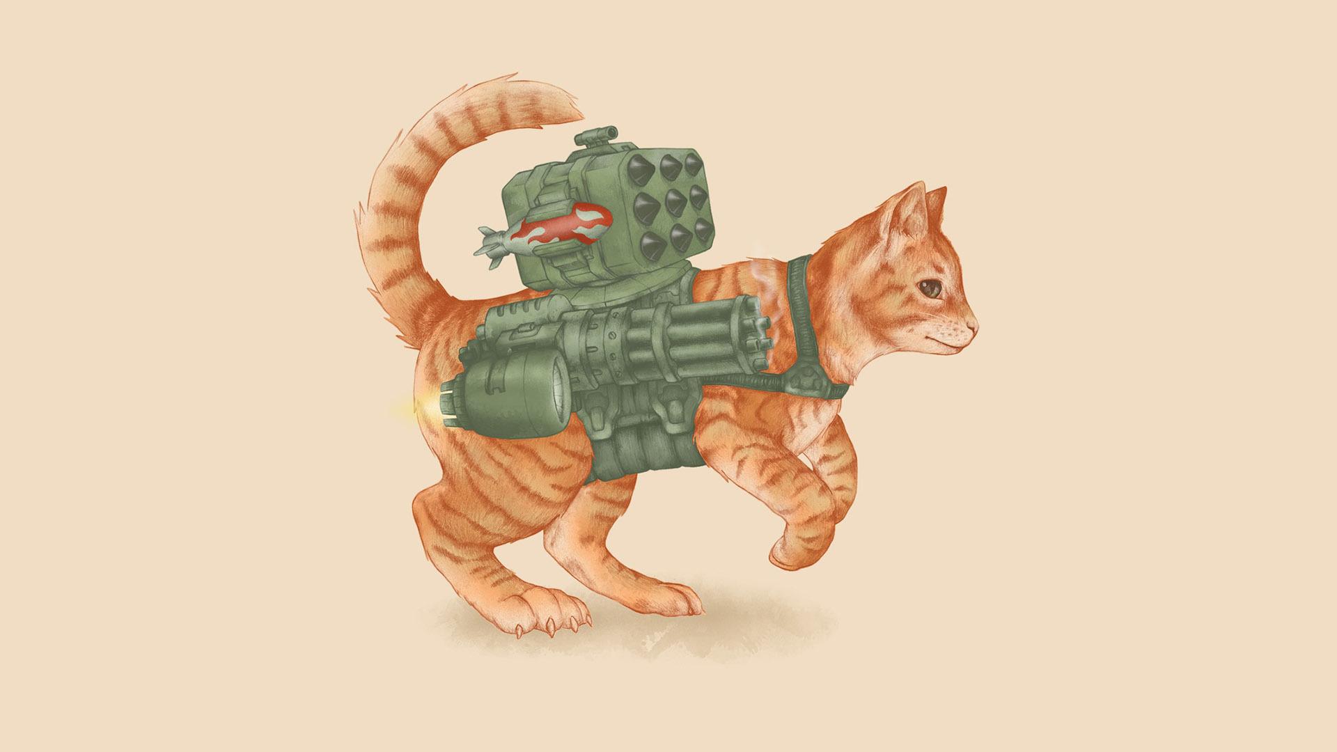 Коты нарисованные цветные