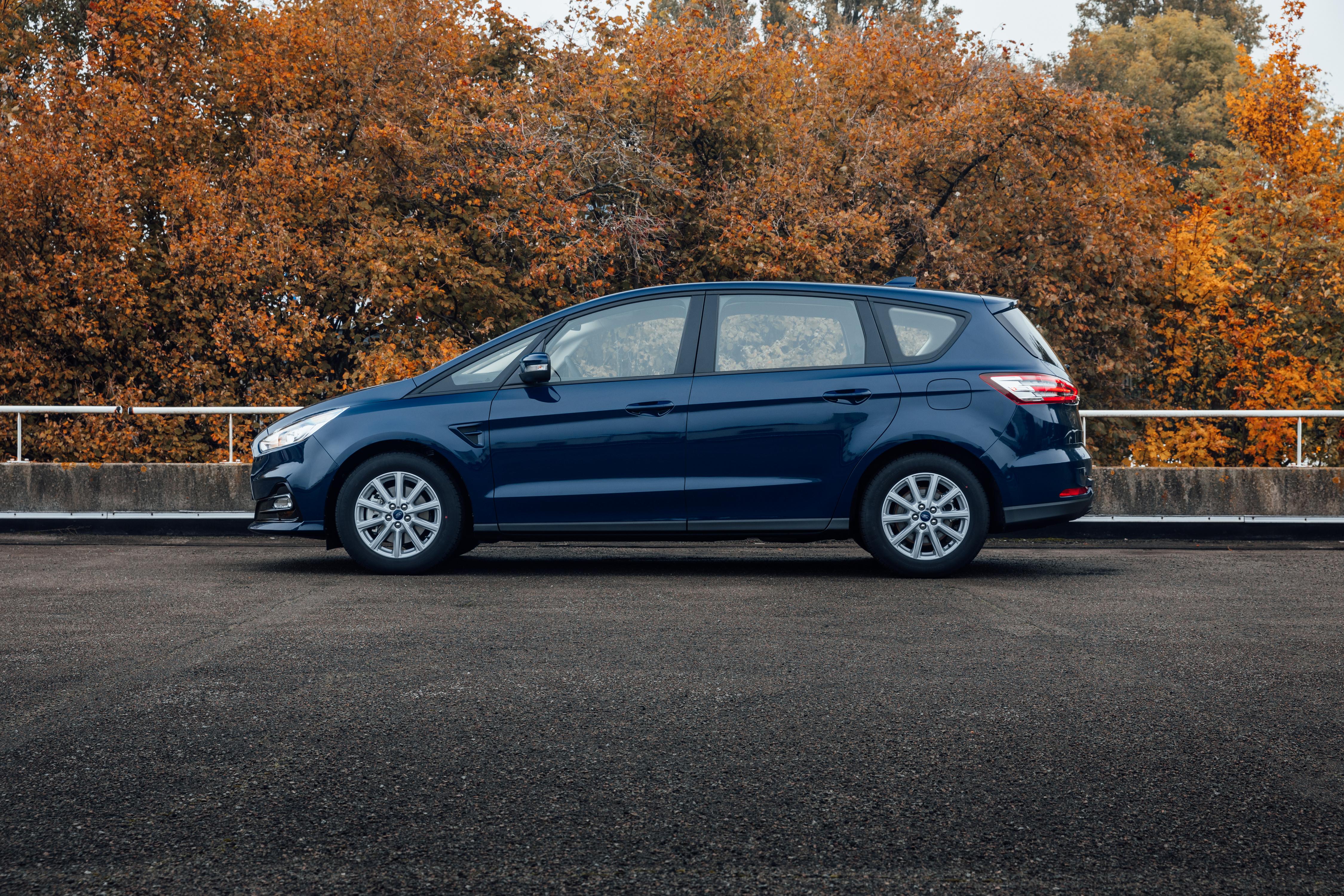 Картинки Ford Универсал S-MAX, 2019 Синий авто Сбоку Металлик Форд синяя синие синих машина машины Автомобили автомобиль