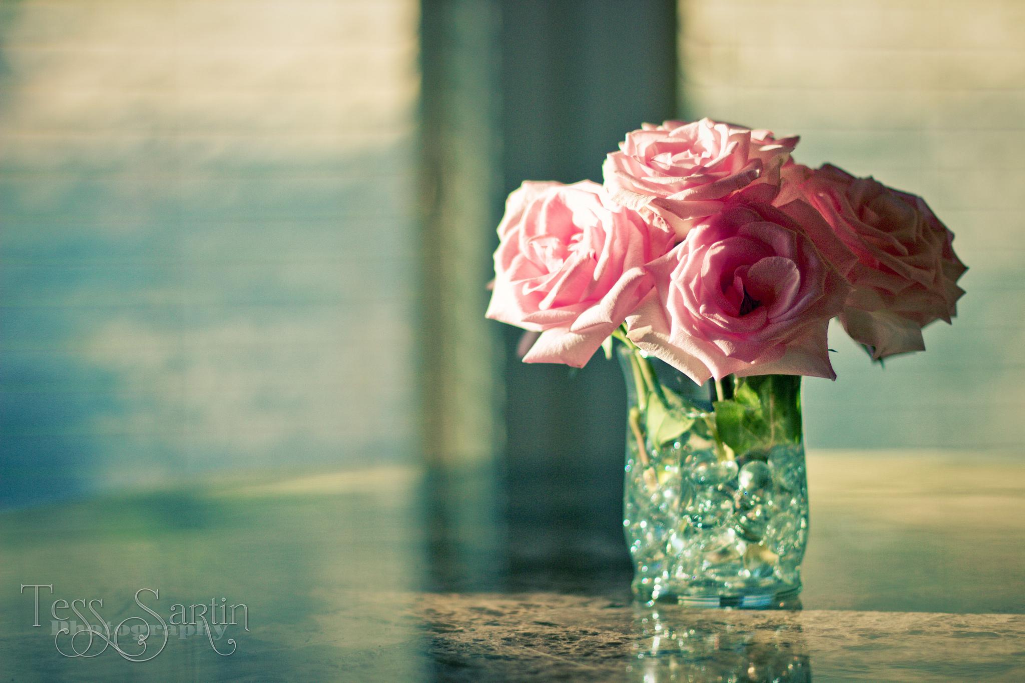 Обои цветы в вазе для рабочего стола