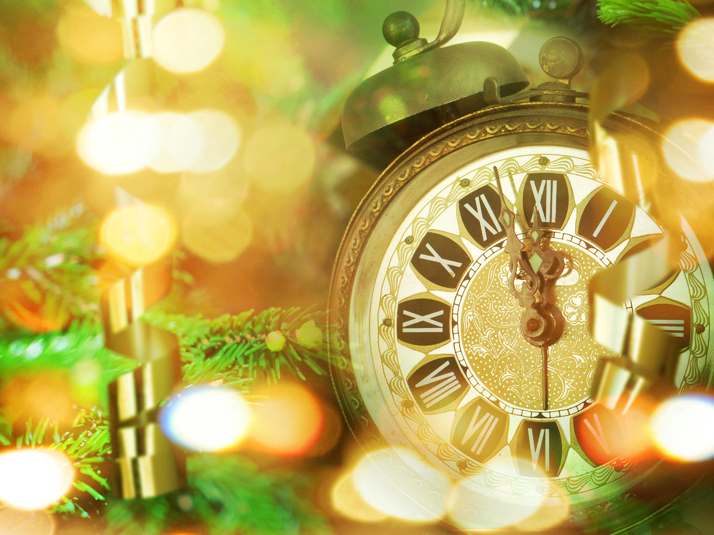 Часы новый год обои, картинки, скачать обои на рабочий стол.