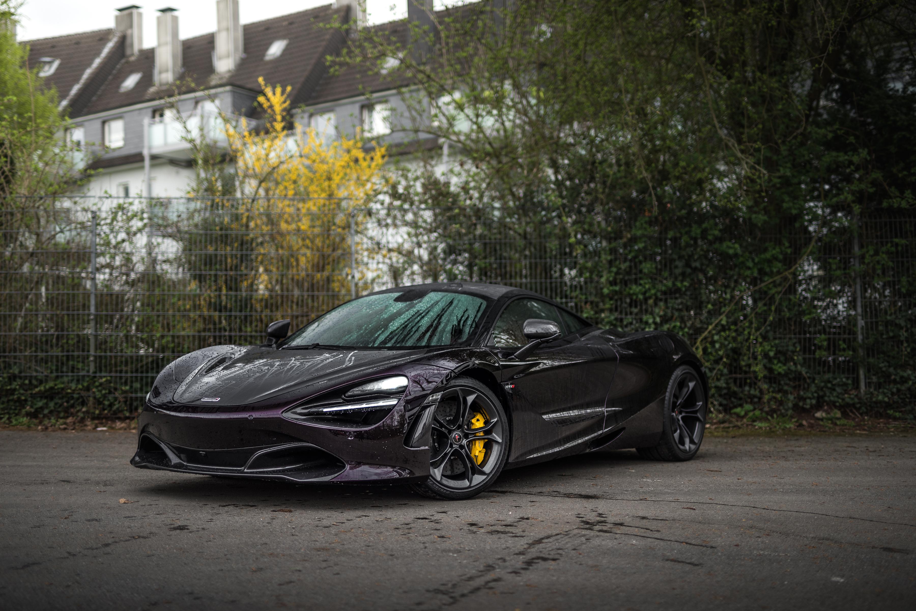 Фотография 2018-20 Manhart McLaren 720S Черный машина Металлик 3600x2403 Макларен черная черные черных авто машины Автомобили автомобиль
