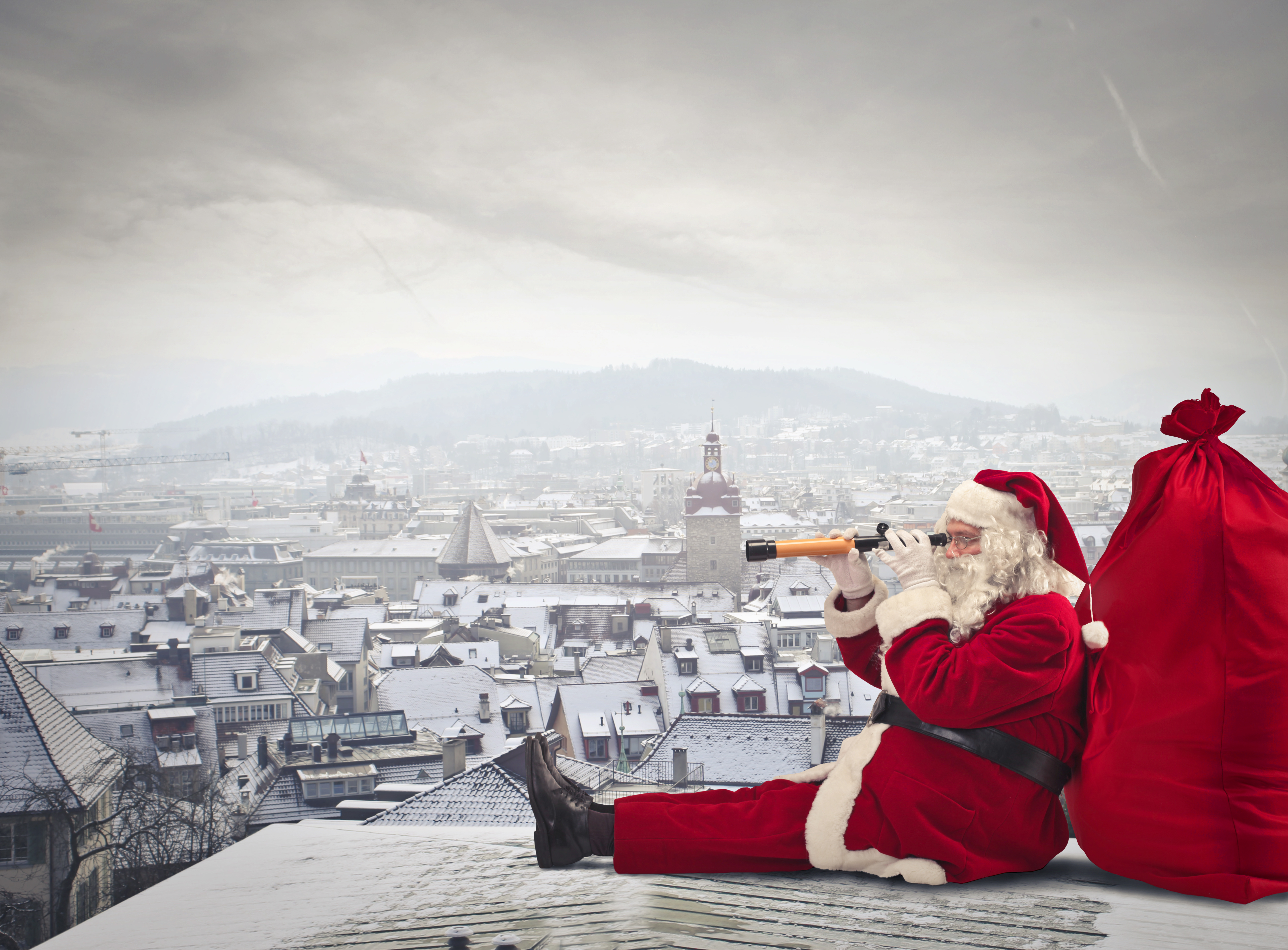 Дед Мороз с мешком загрузить
