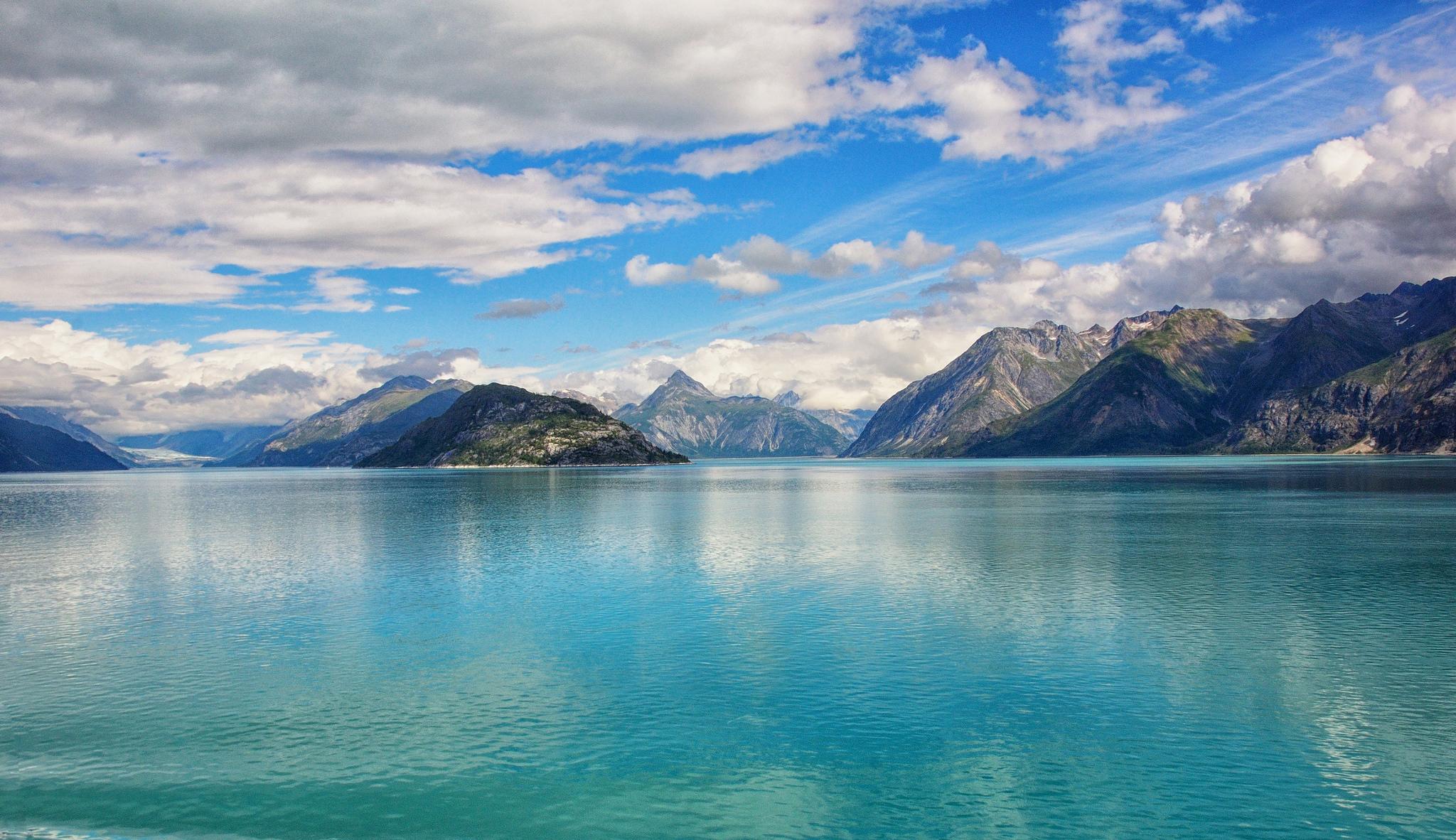 природа горы облака озеро небо облака без смс