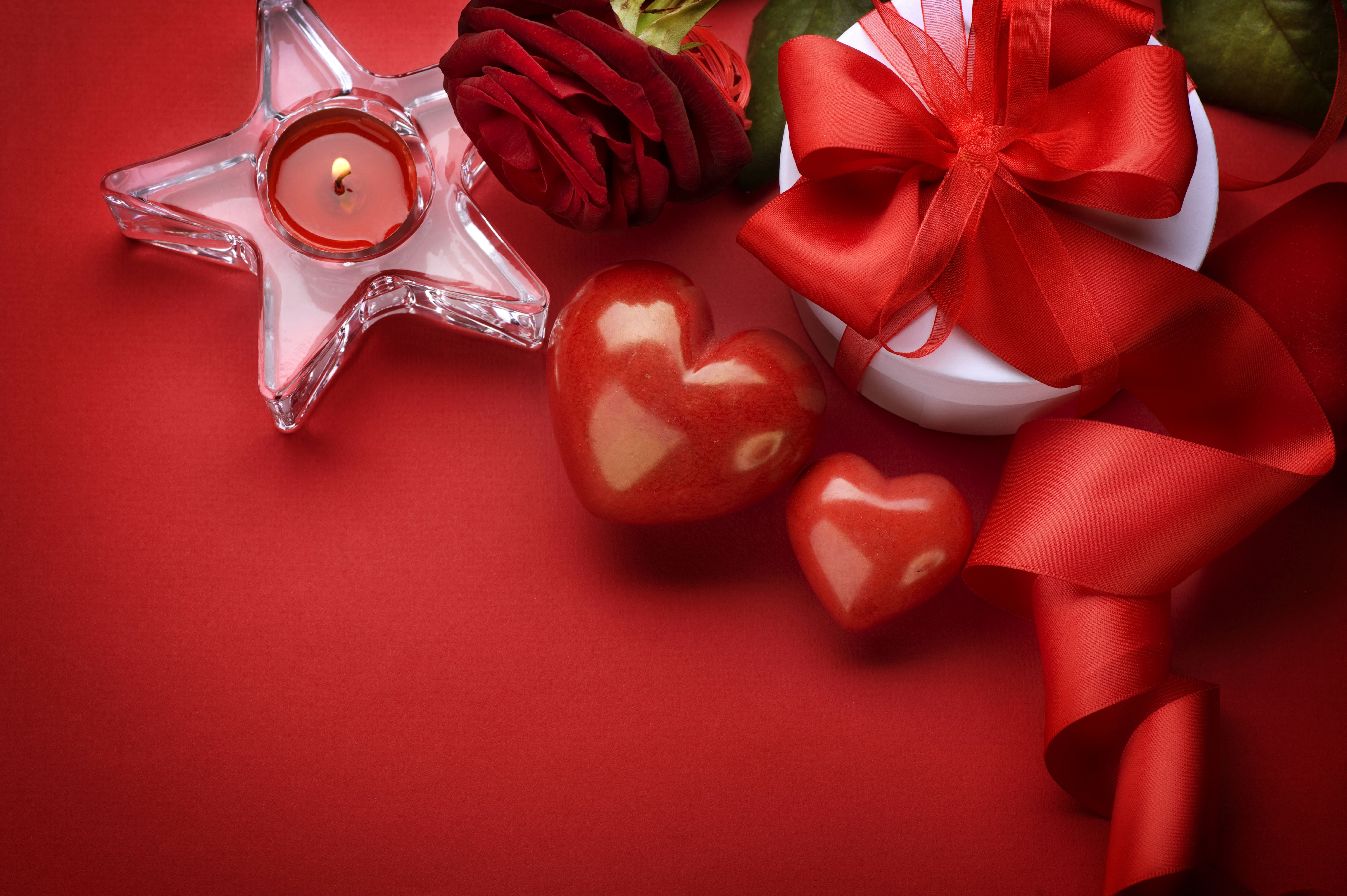 Сердце розы свечи подарок скачать