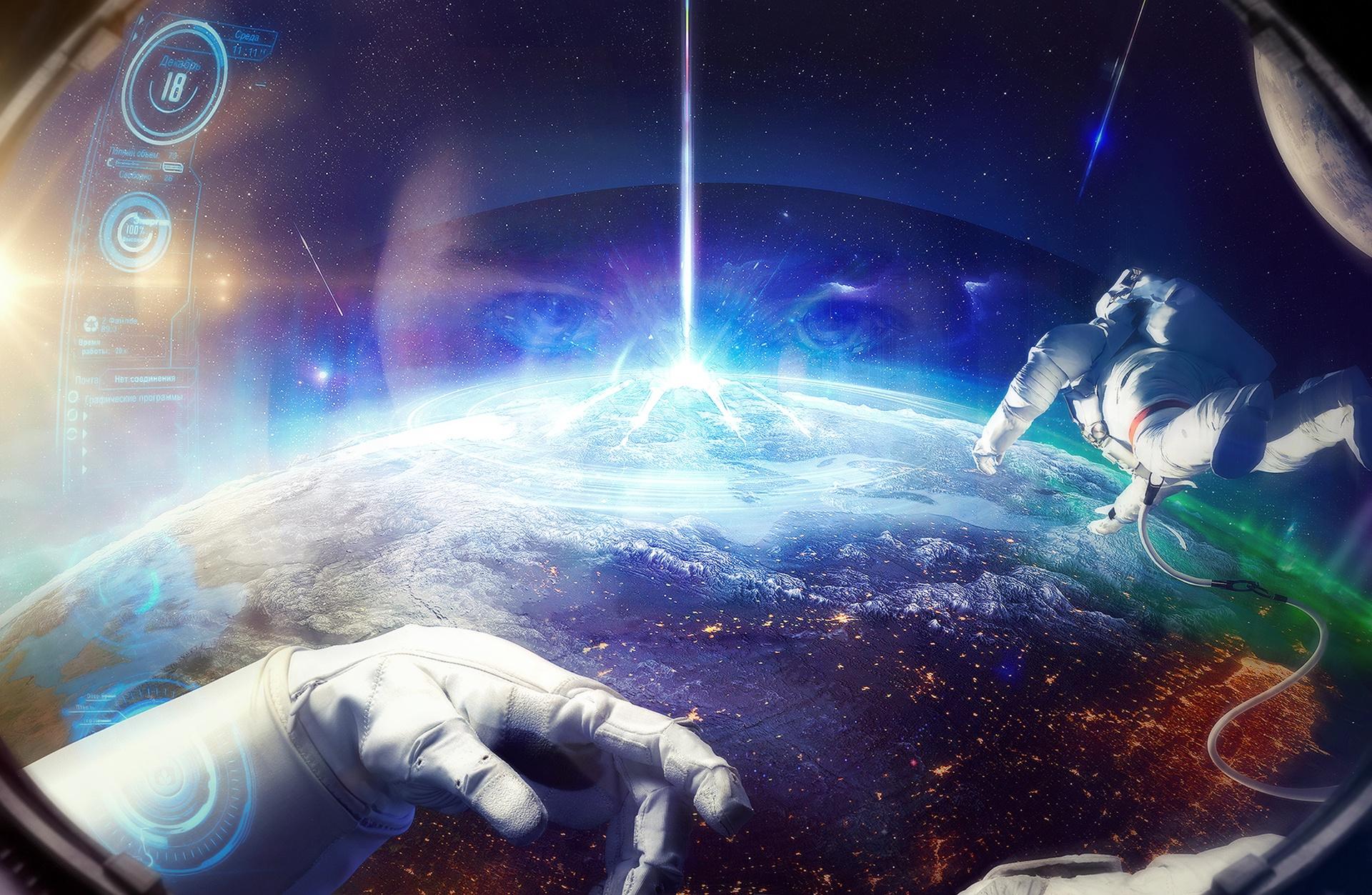 Обои астронавт, земля. Фантастика foto 7