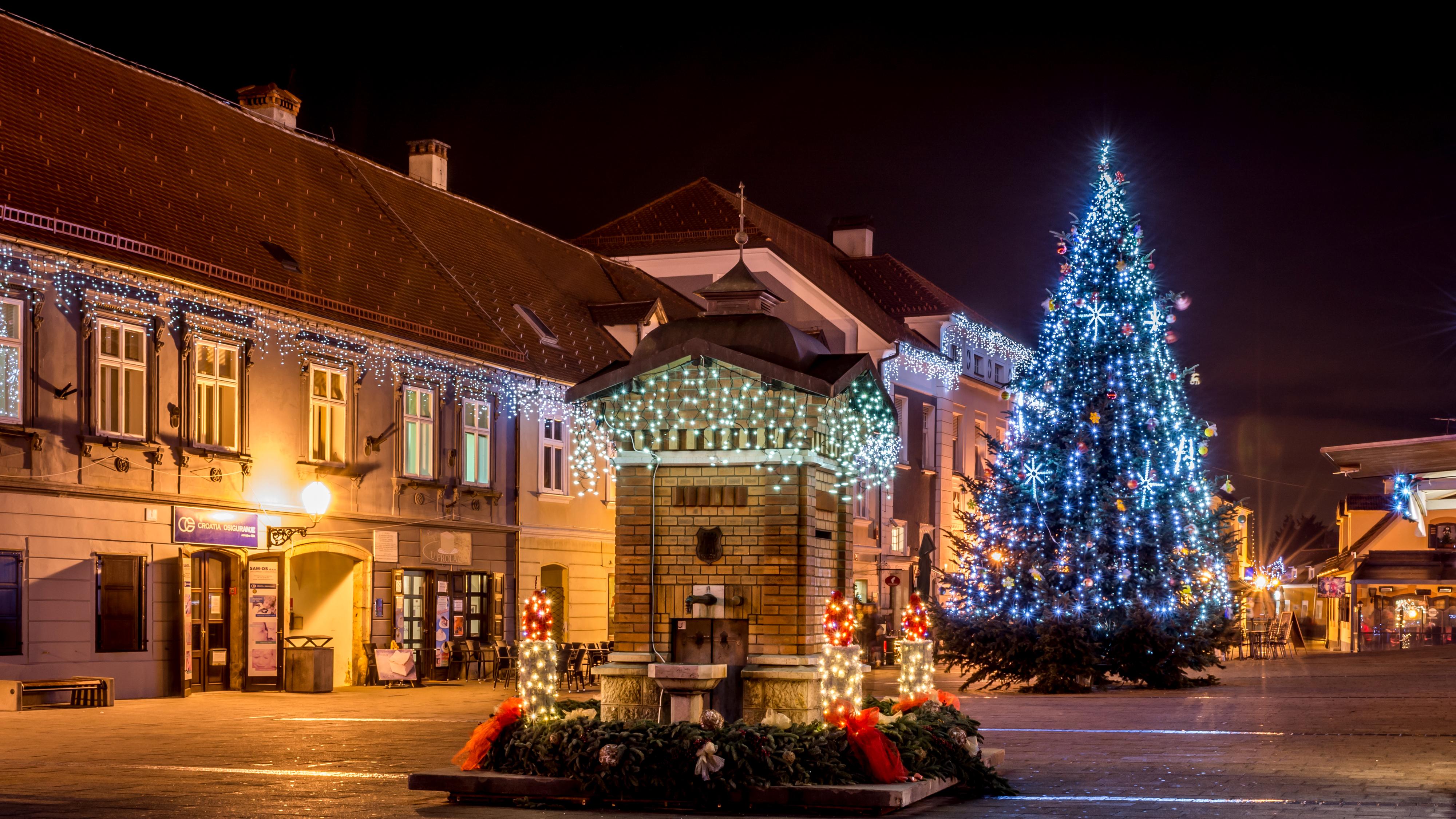 новый год дом ель ночь new year the house spruce night бесплатно