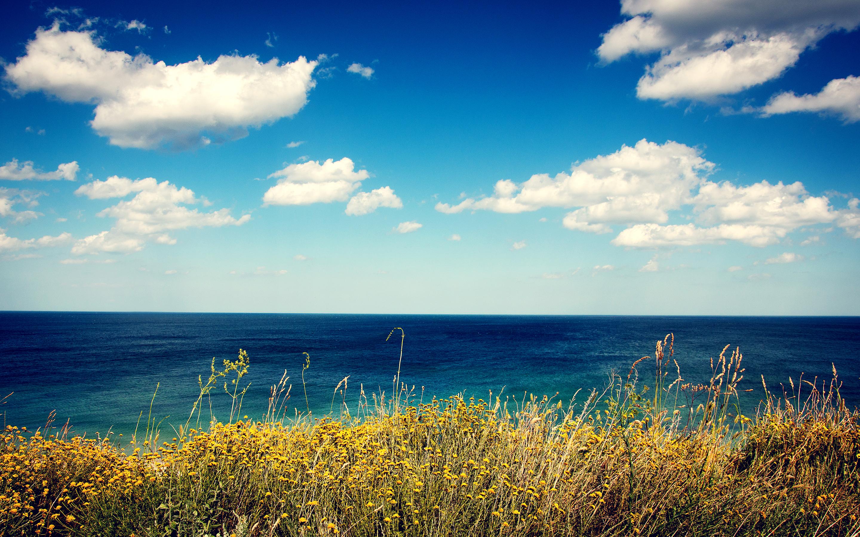 природа море горизонт облака берег nature sea horizon clouds shore загрузить
