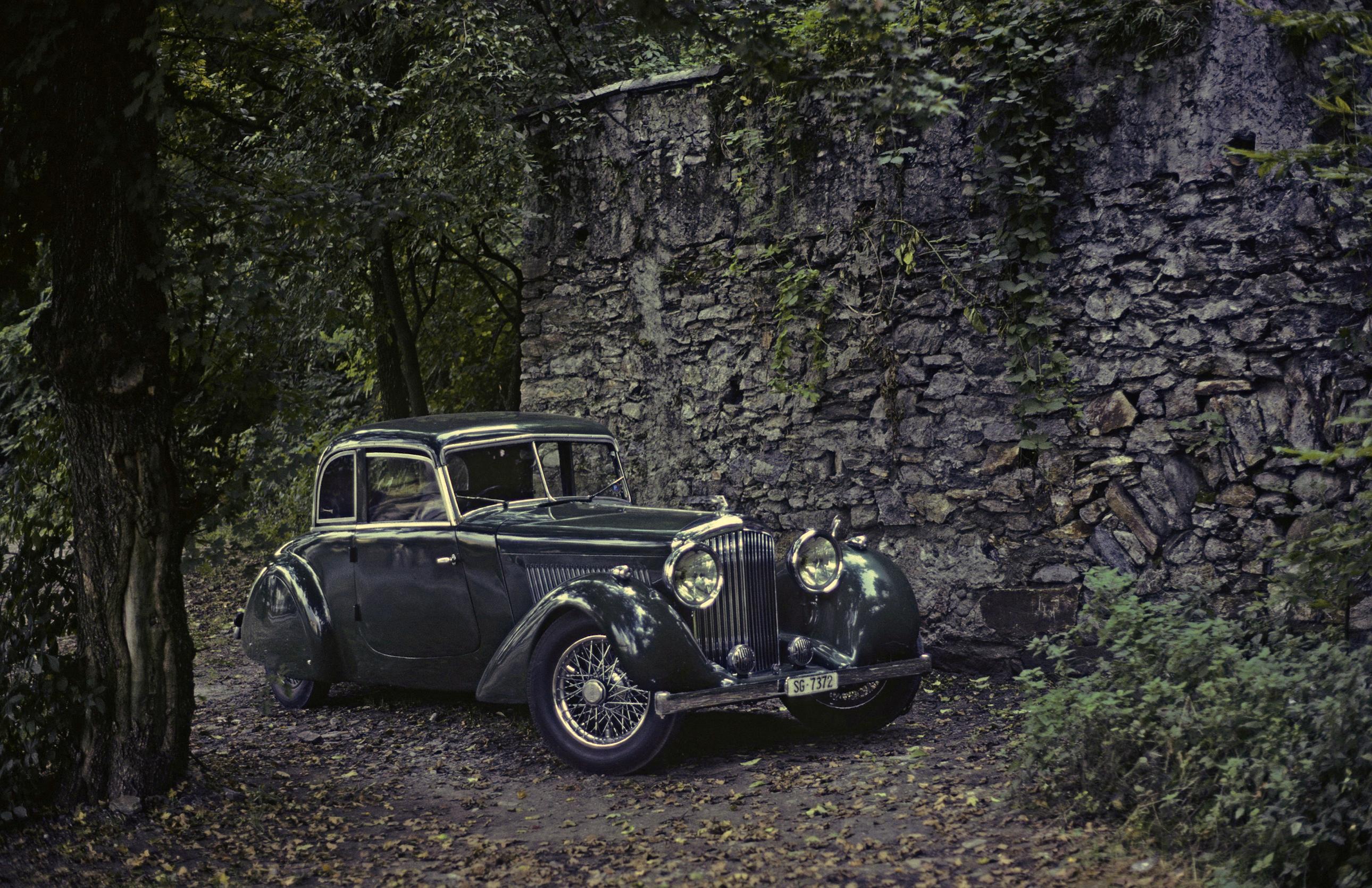 Обои для рабочего стола Bentley 1936 4 ¼ Litre Cabriolet by Köng винтаж Металлик Автомобили 2580x1670 Бентли Ретро старинные авто машины машина автомобиль