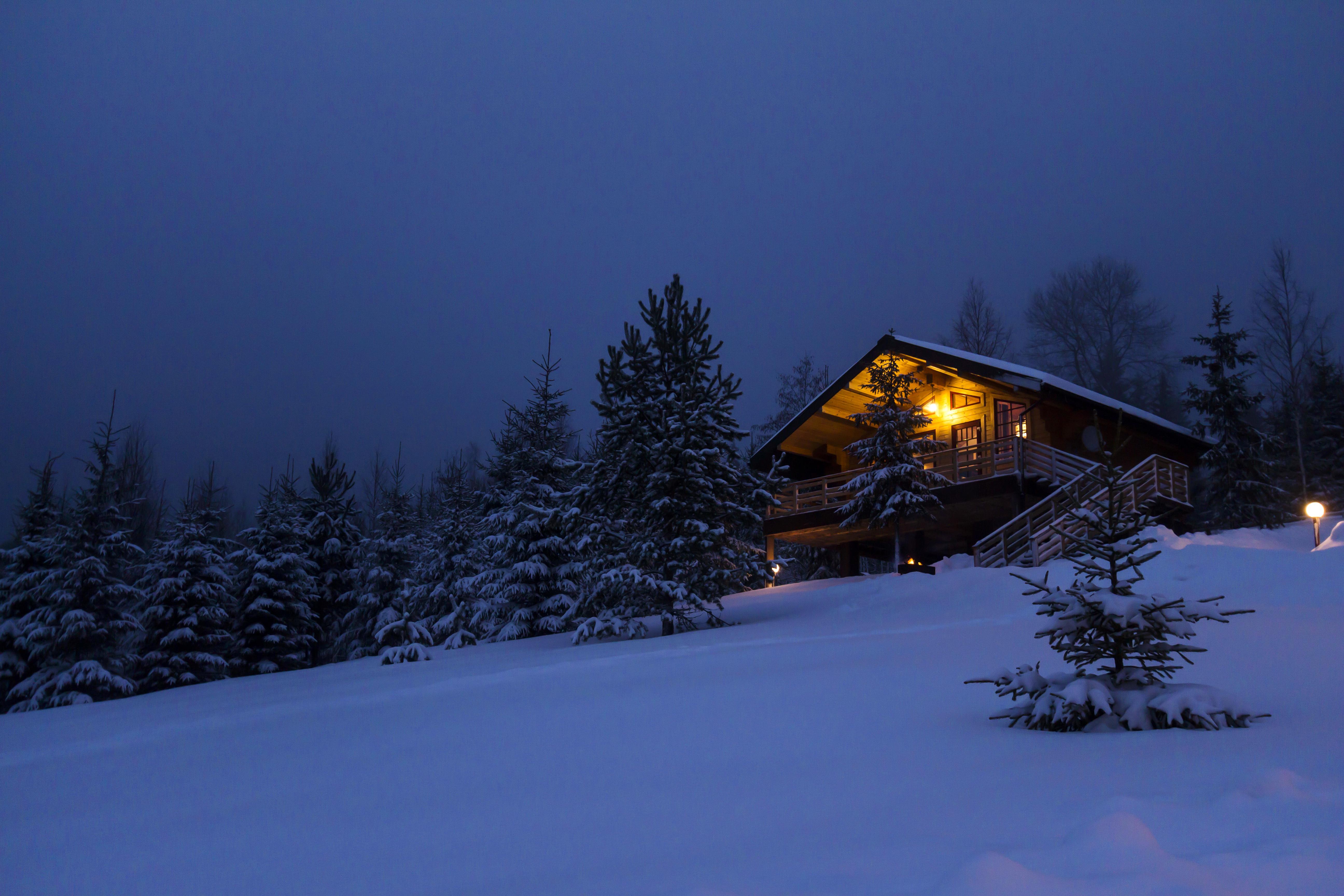 снег зима усадьба фазенда скачать