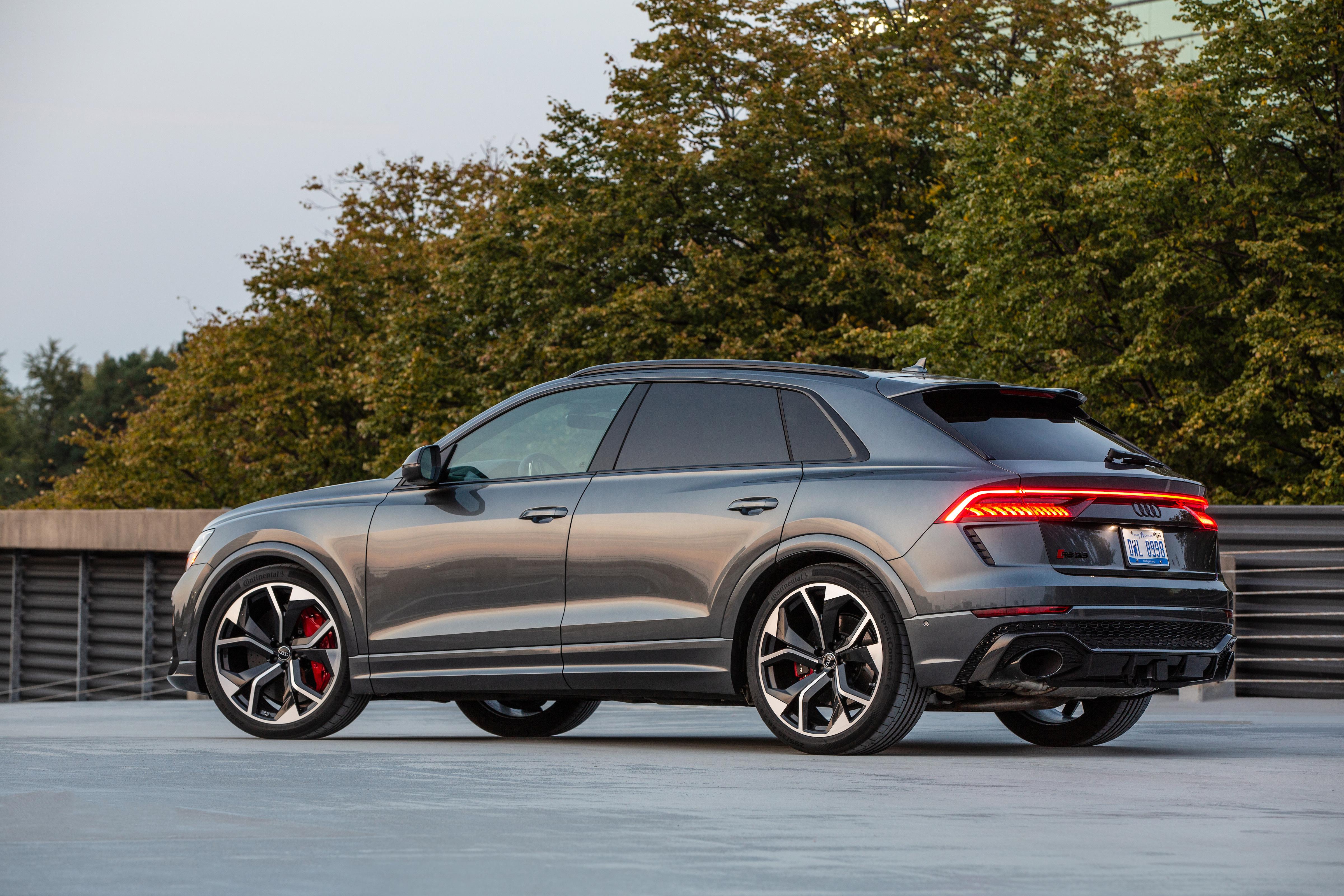 Фотография Audi RS Q8, North America, 2020 Серый Сбоку Металлик Автомобили 4800x3200 Ауди серая серые авто машины машина автомобиль