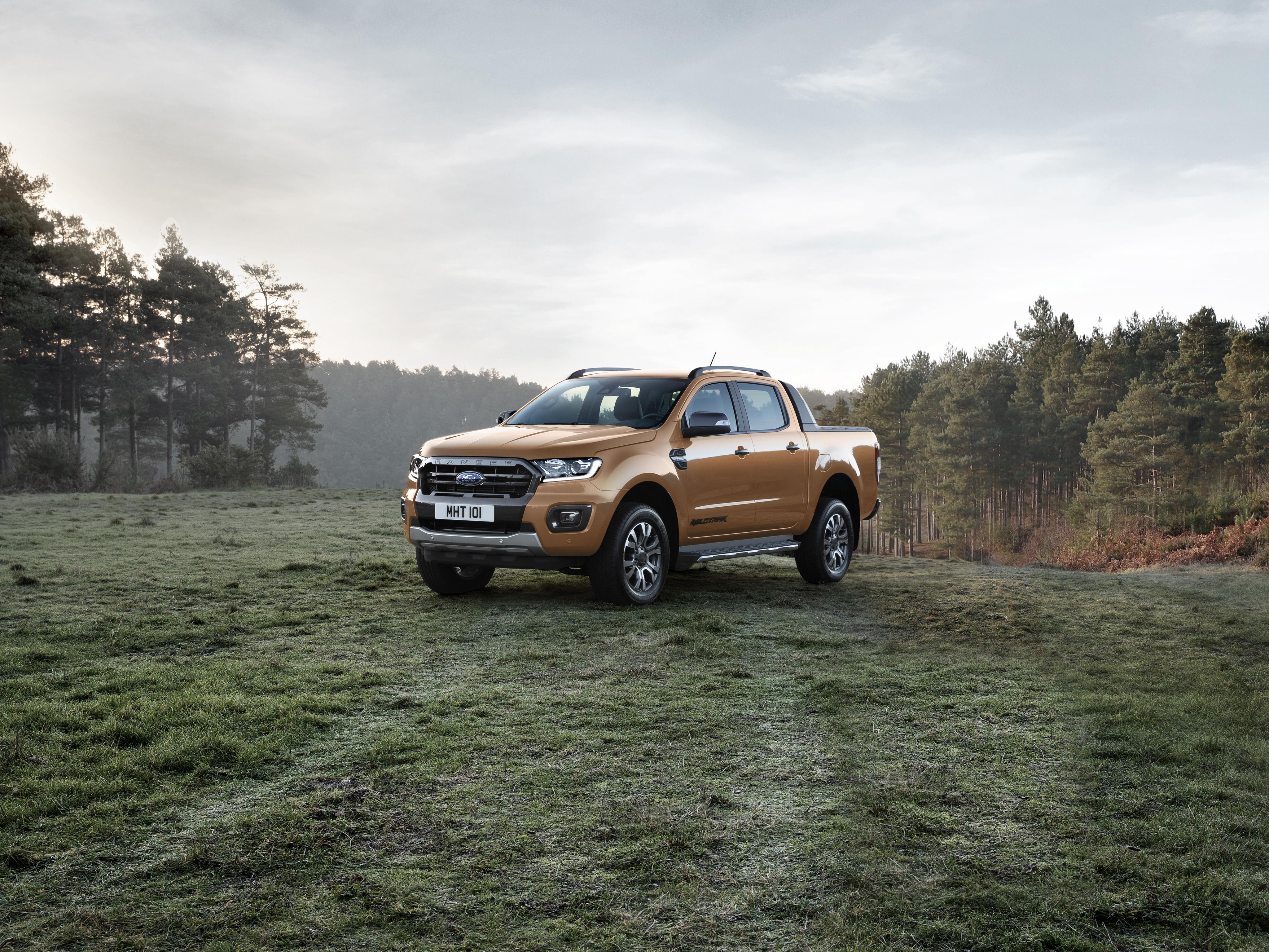 Обои для рабочего стола Форд 2019 Ranger Wildtrak Пикап кузов Металлик Автомобили 4096x3072 Ford авто машина машины автомобиль
