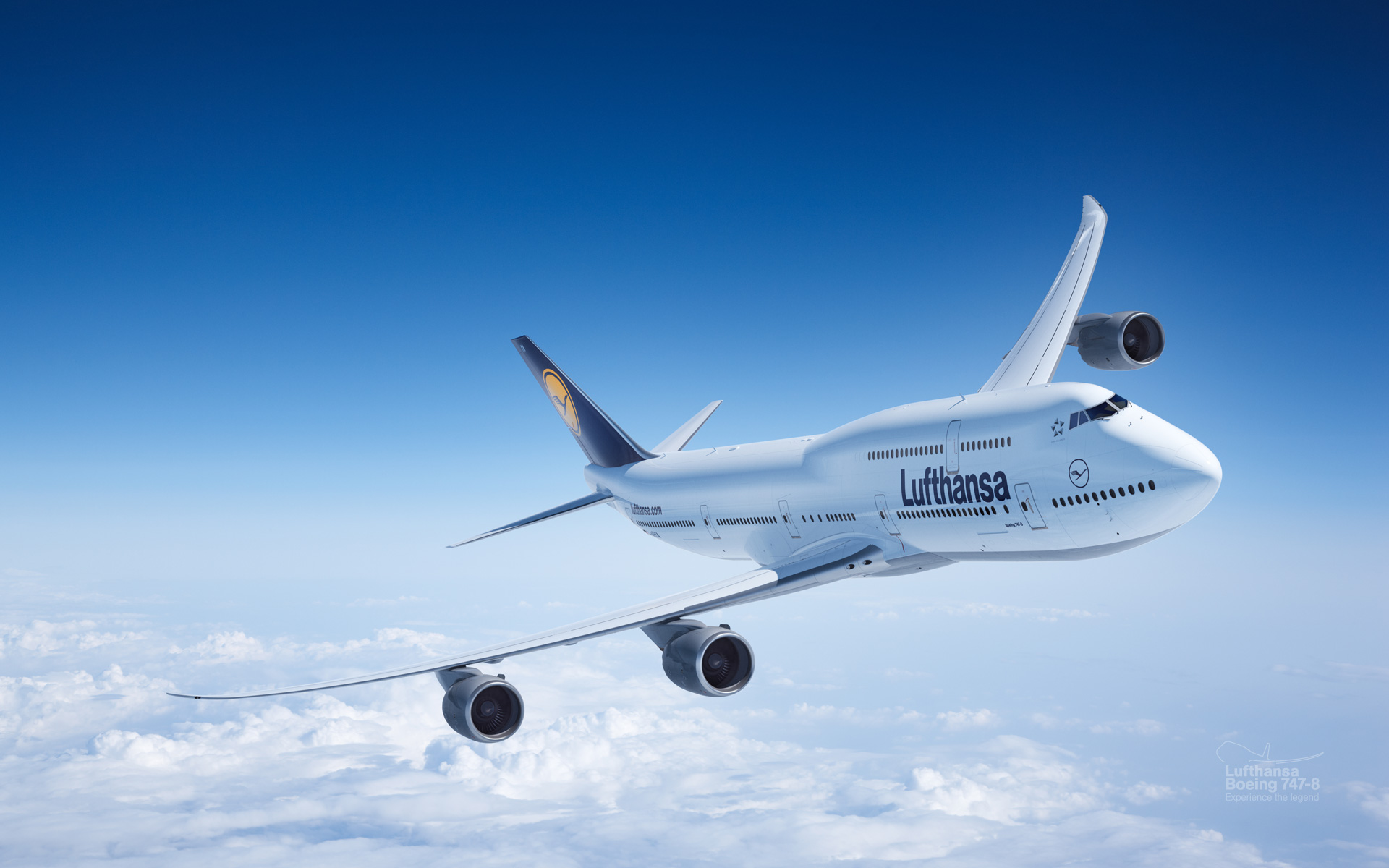 Обои Lufthansa. Авиация foto 8