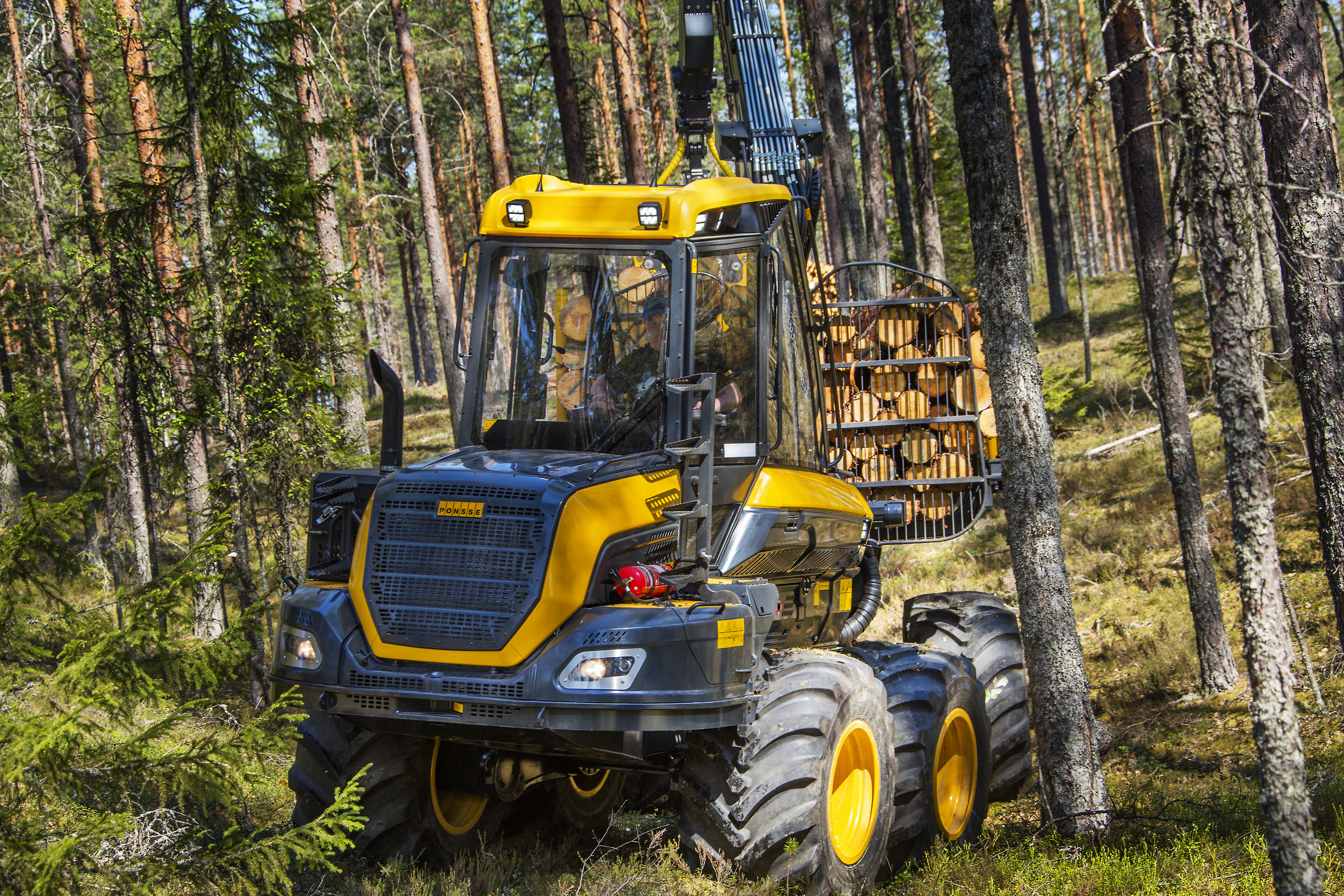 Картинка Форвардер 2014-17 Ponsse Wisent 8w Леса Деревья 3600x2400 лес дерево дерева деревьев