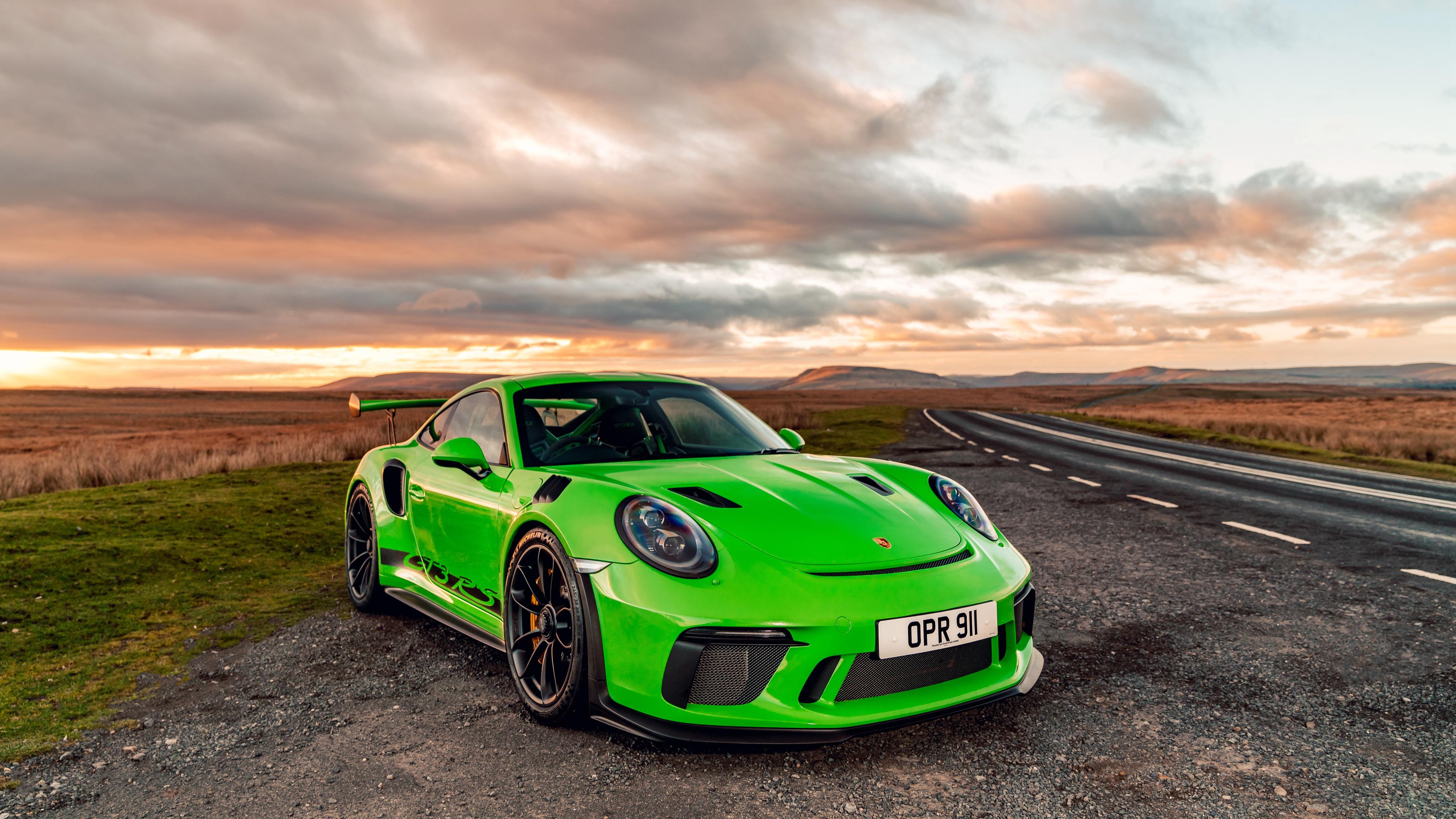 Фотографии Porsche 911 2018 GT3 RS Салатовый Автомобили Порше салатовая салатовые желто зеленый авто машина машины автомобиль