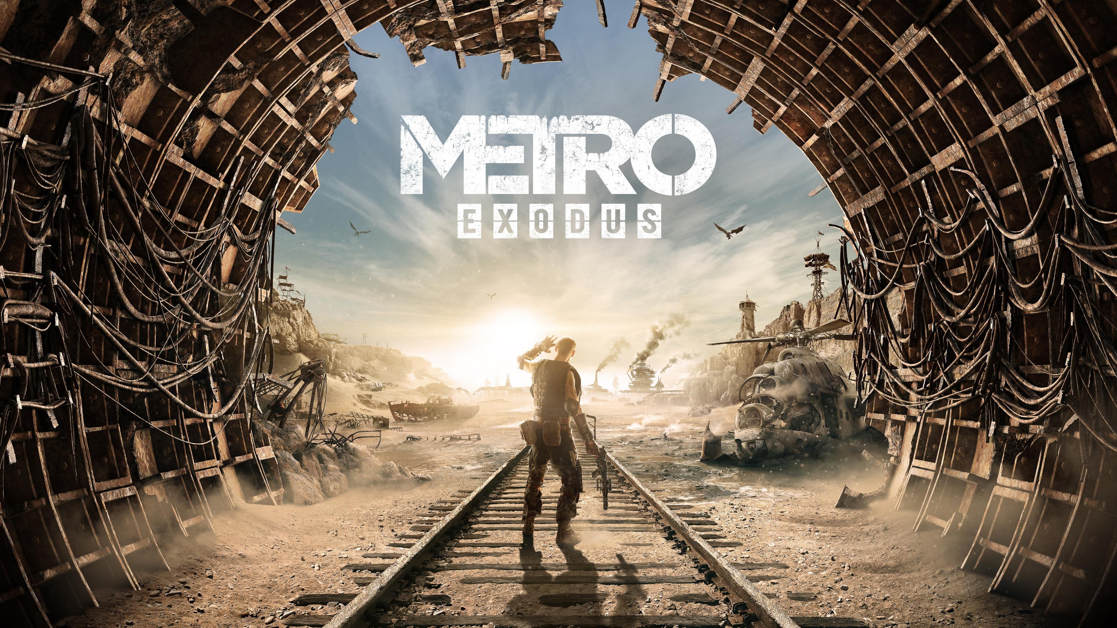 Картинки Metro Exodus тоннель рельсах Игры Рельсы Туннель компьютерная игра
