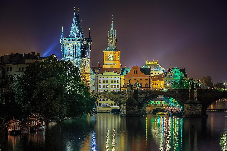 страны архитектура Прага ночь скачать