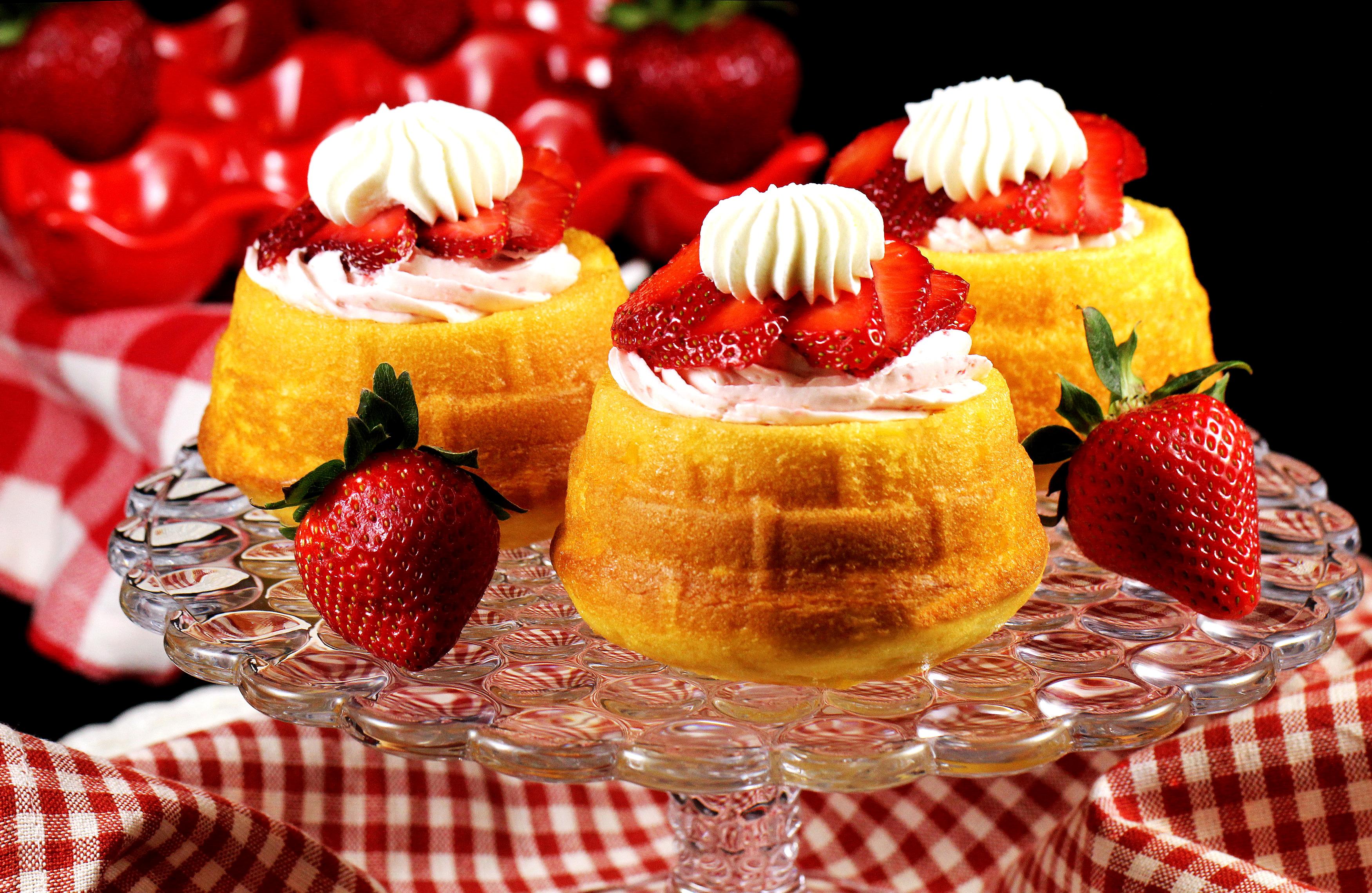 Печенье пирожное клубника загрузить