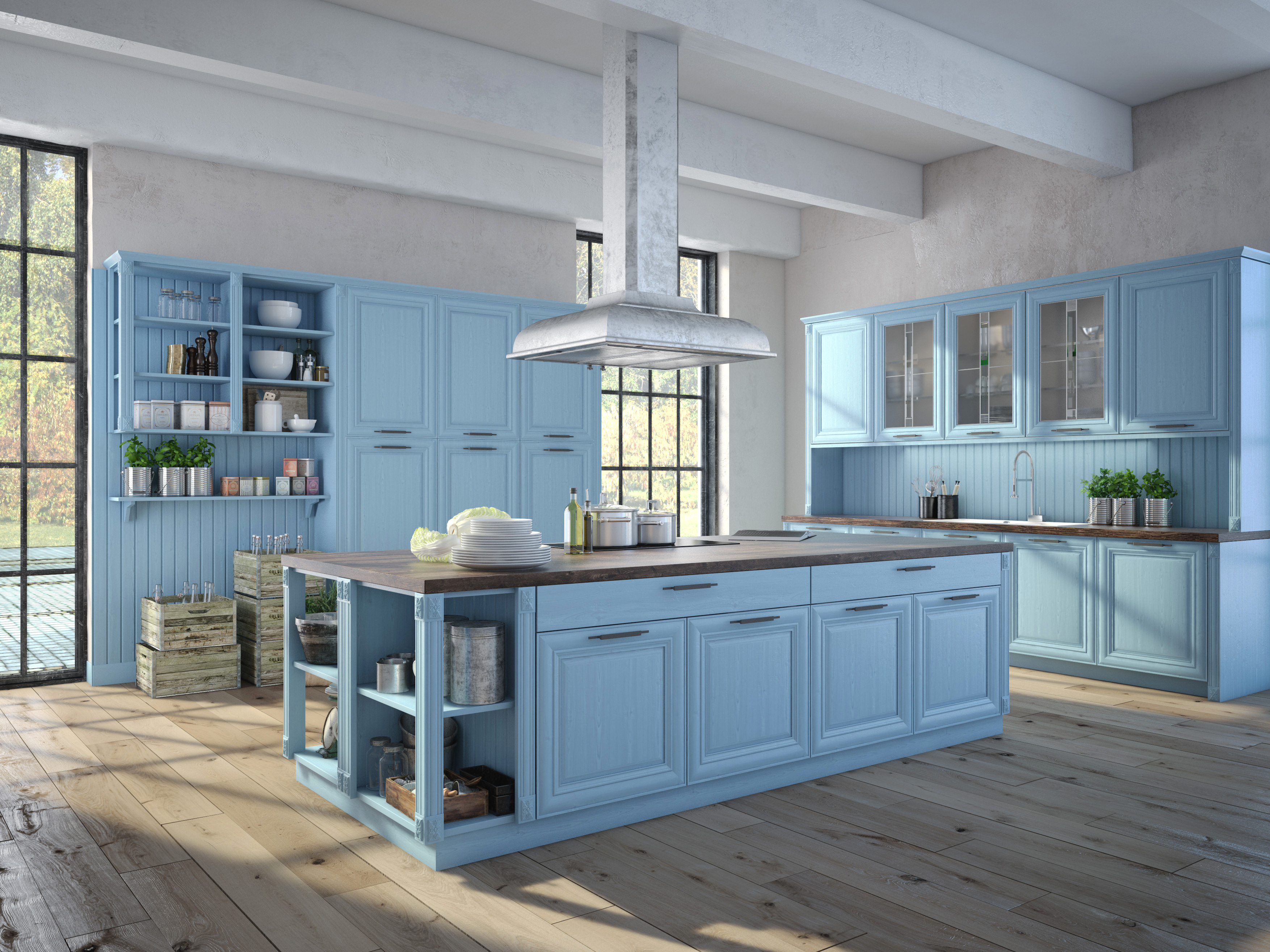 Cooking With Color When To Use Blue In The Kitchen Houzz - Blue kitchen paint colors pictures ideas amp tips from cooking with color when to use blue in the kitchen houzz