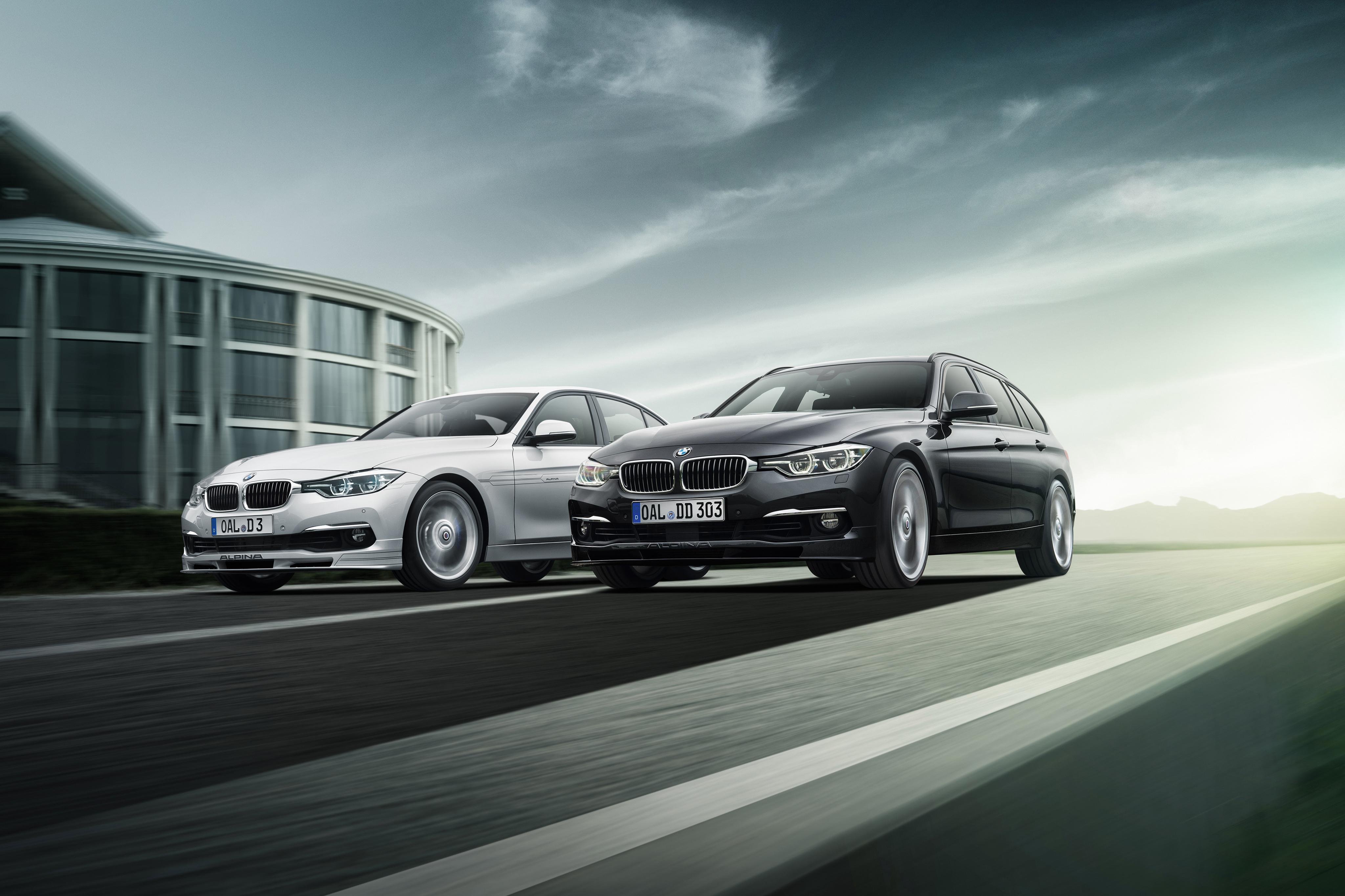 Фотография BMW F31 Alpina 2013 F30 3 Series вдвоем автомобиль 4096x2730 БМВ 2 два две Двое авто машины машина Автомобили