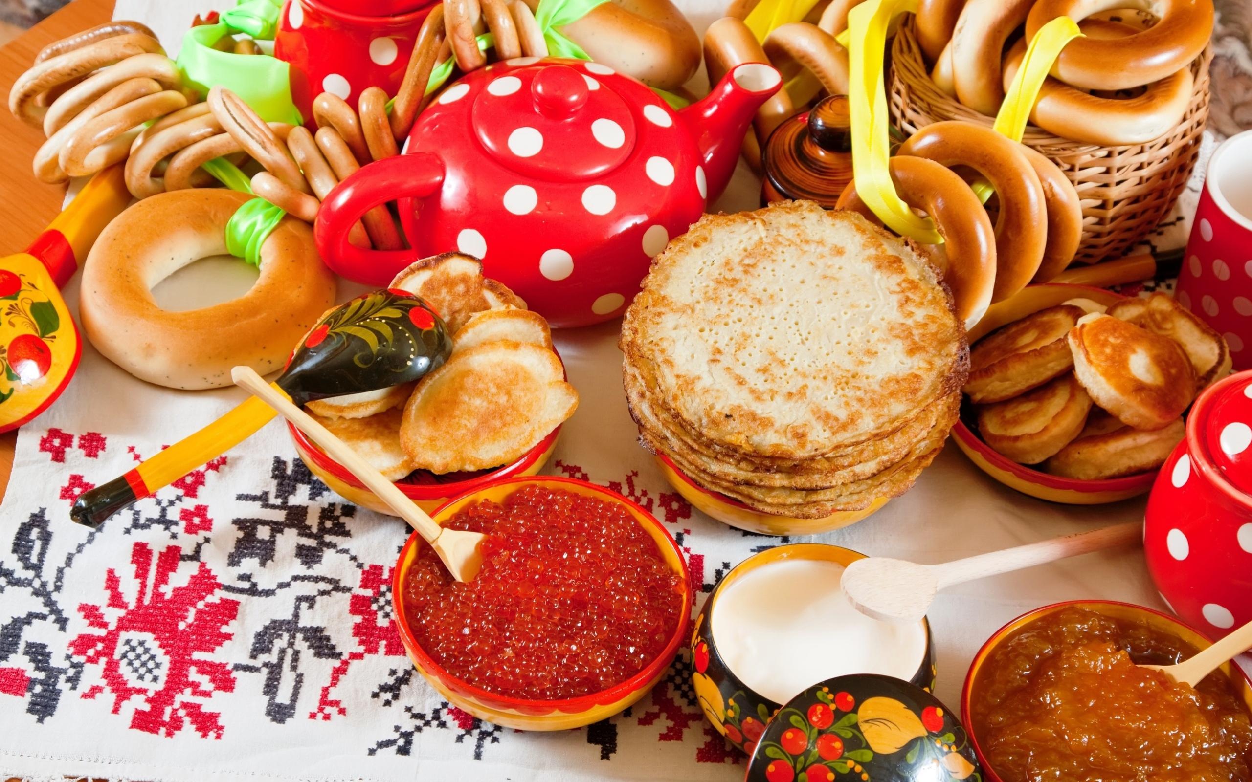 Фото Блины Икра Еда ложки Выпечка Пища Ложка Продукты питания