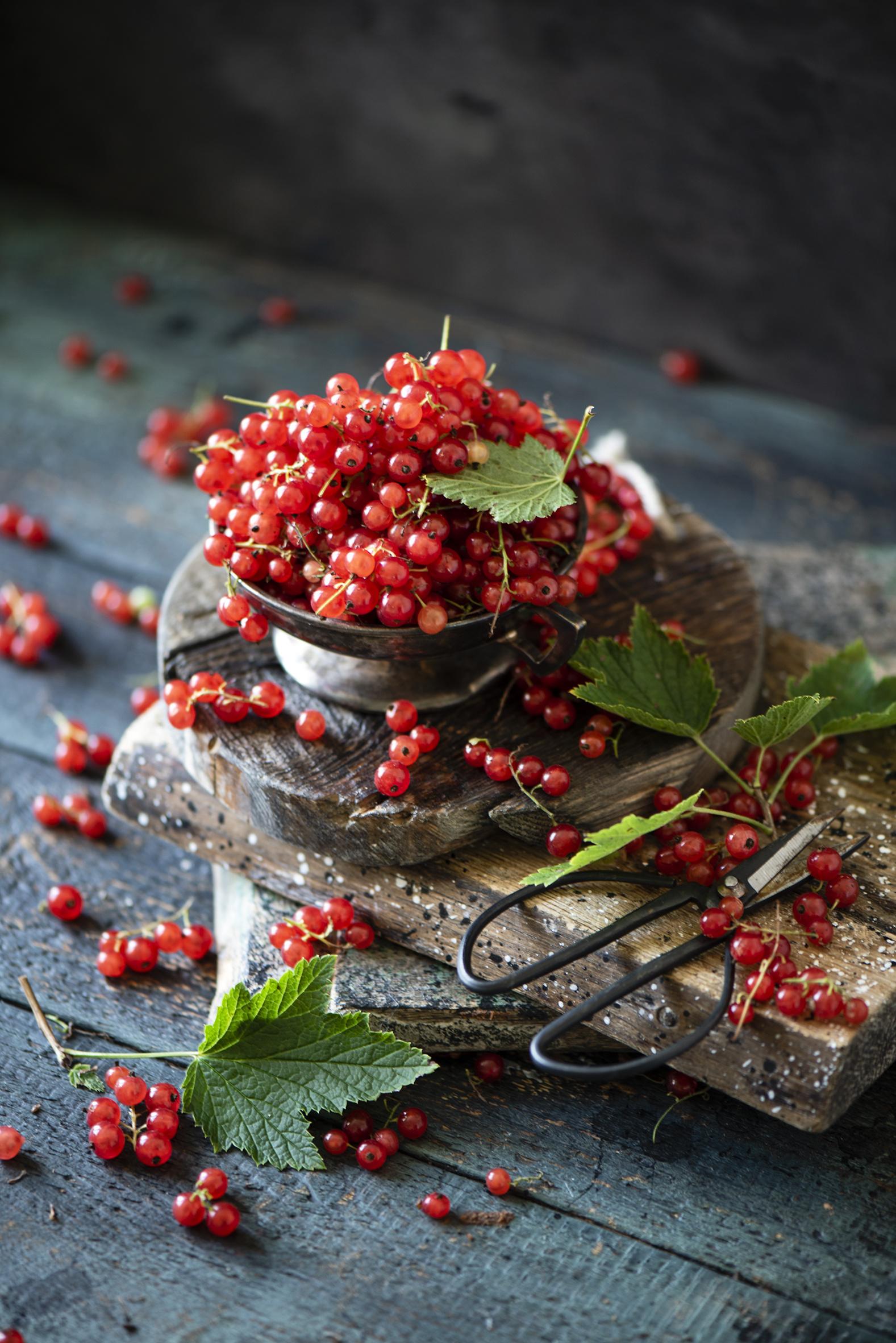 Фотографии Красный Смородина Продукты питания Много Доски  для мобильного телефона красная красные красных Еда Пища