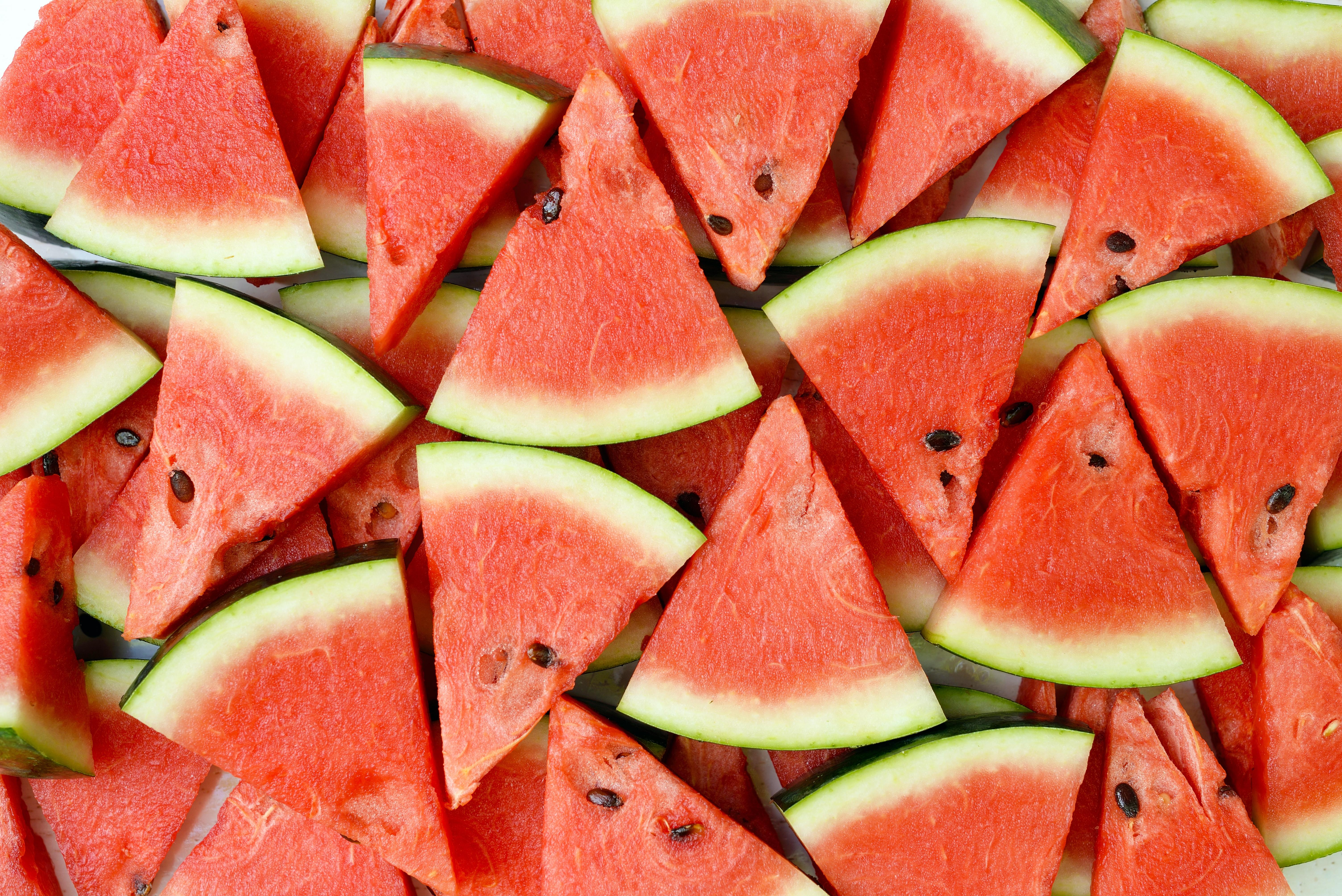Картинка Текстура Арбузы кусочки Еда 6016x4016 часть Кусок кусочек Пища Продукты питания
