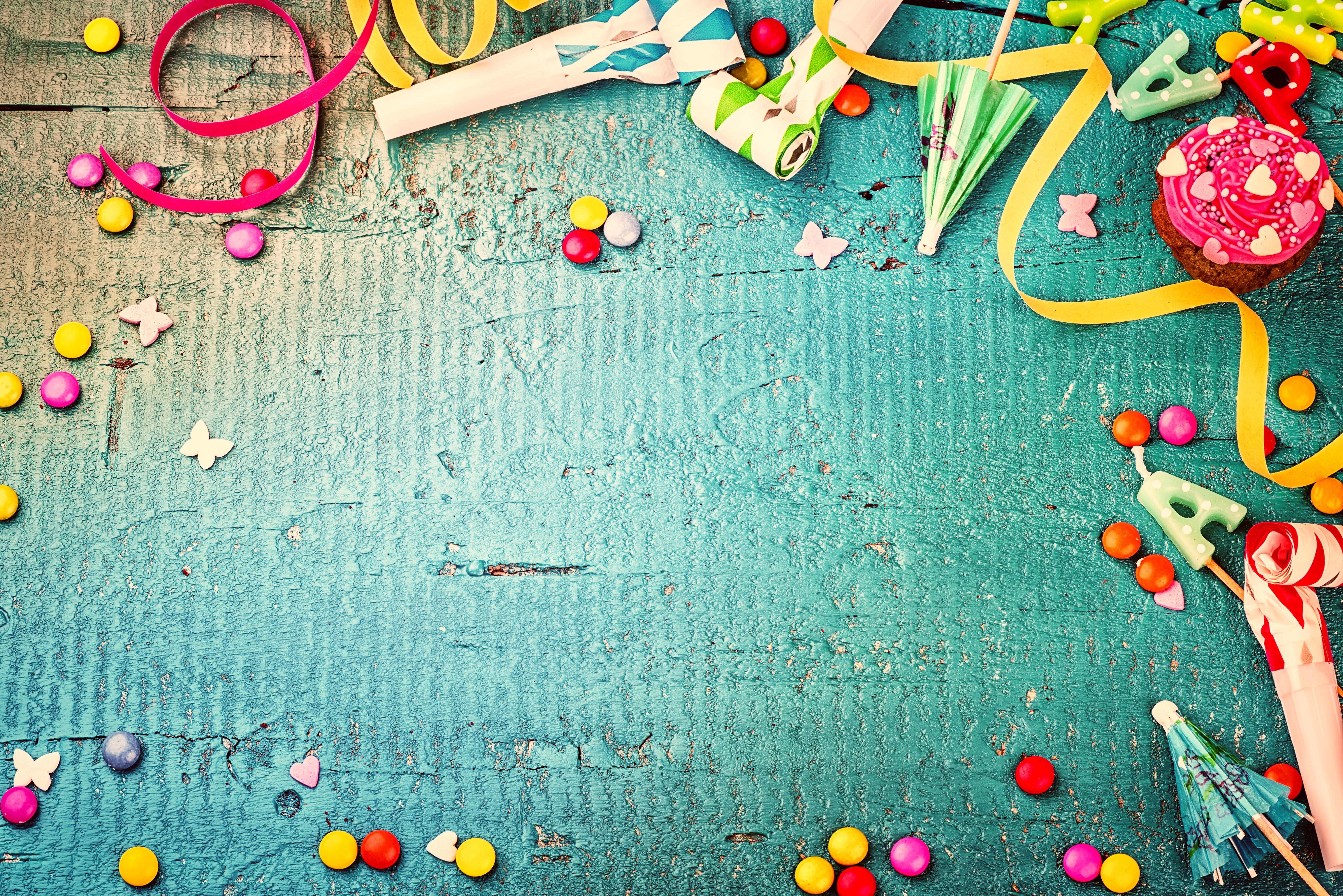 Фотография День рождения Драже Шаблон поздравительной открытки 5520x3684