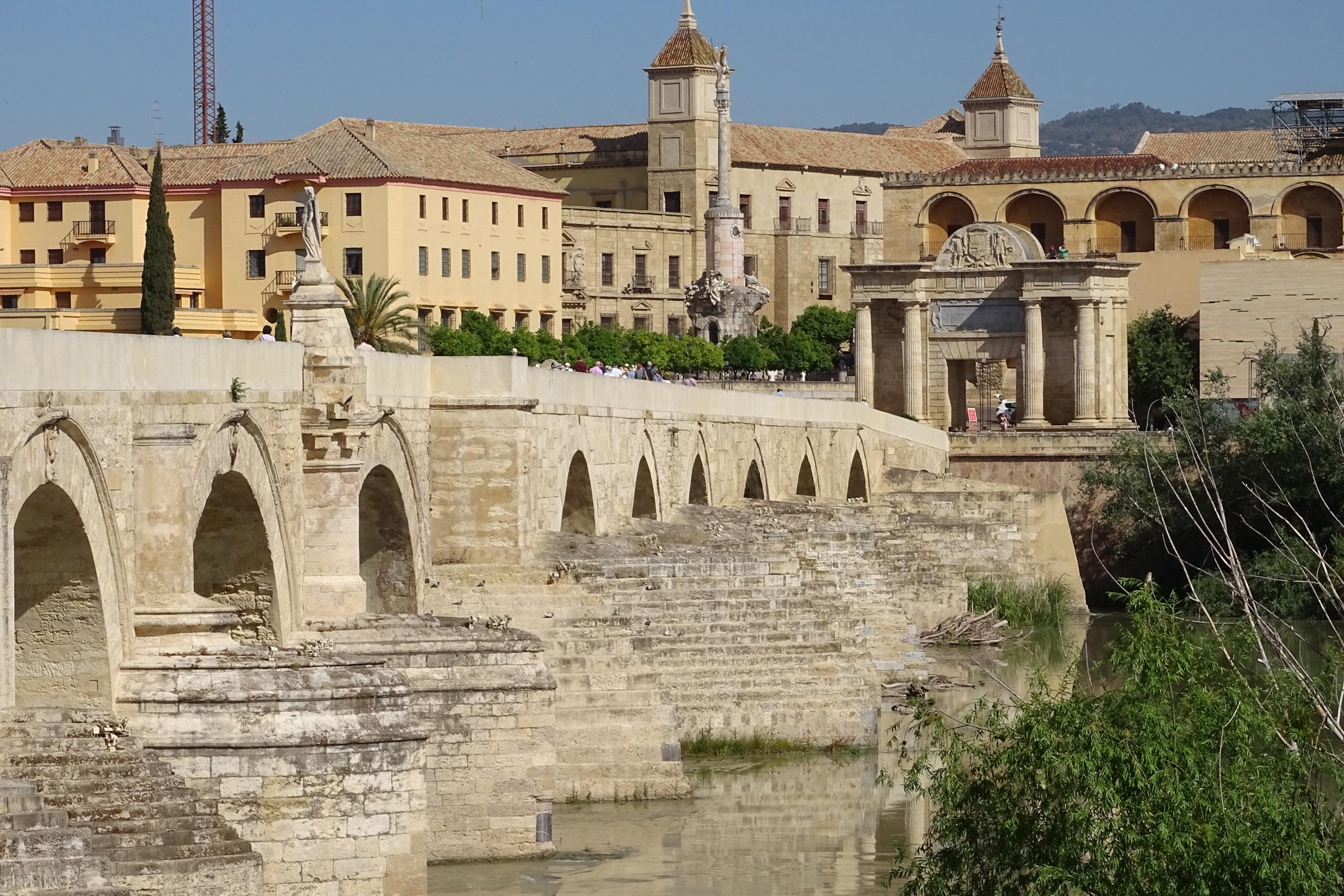 Фотография Испания Cordoba Мосты Города Здания 2700x1800 мост Дома город