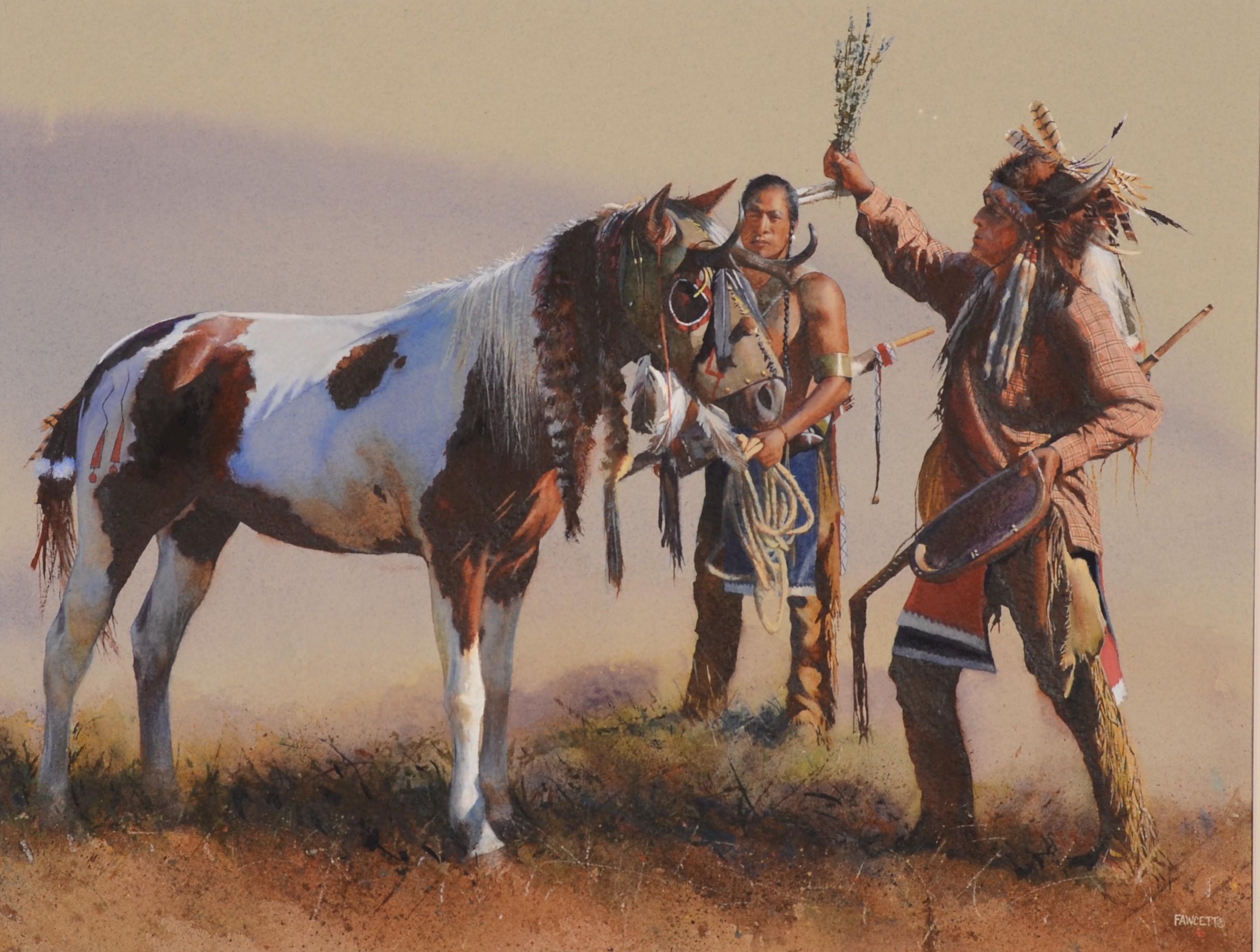Индеец на лошади бесплатно