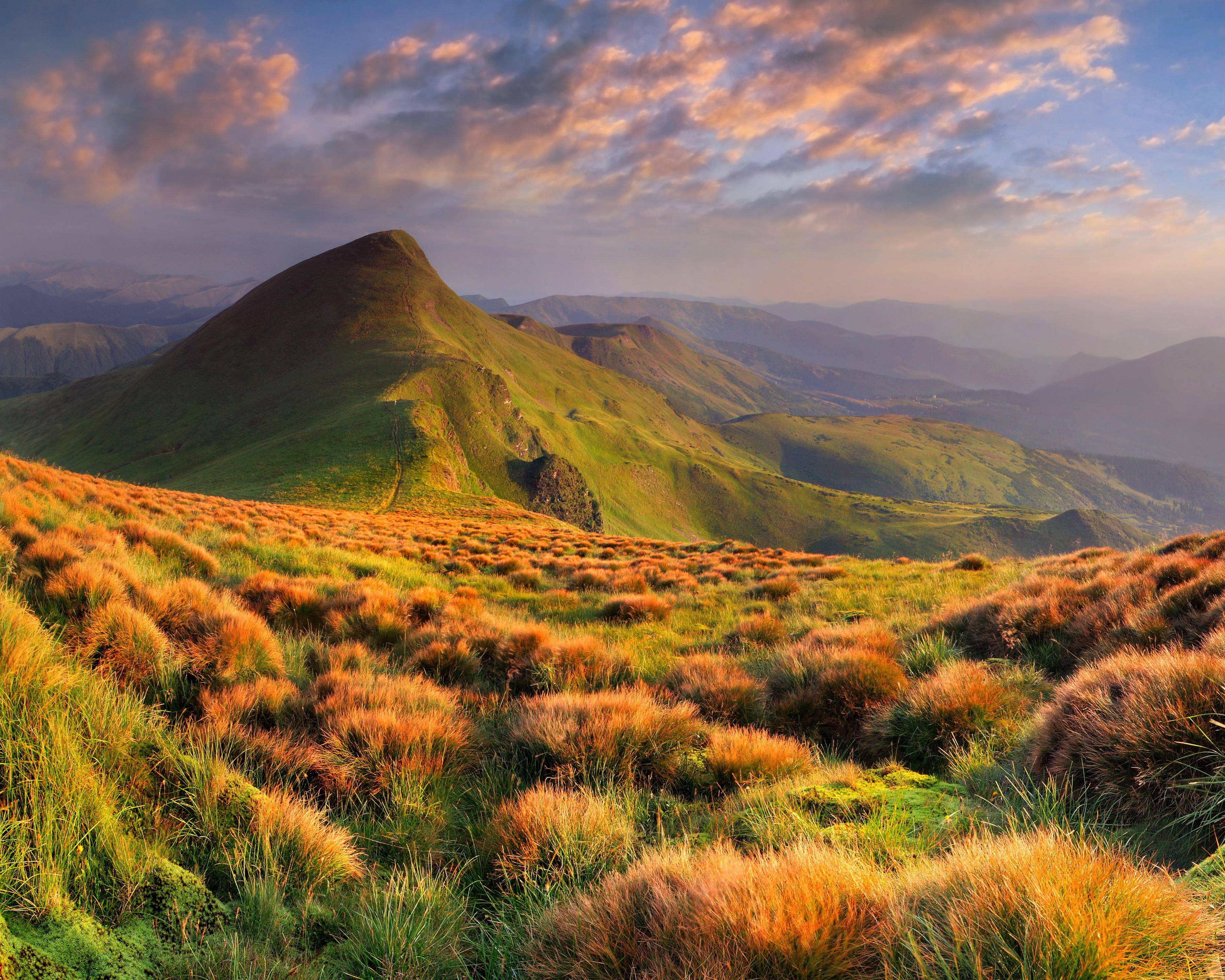 пейзаж гористый ландшафт небо бесплатно