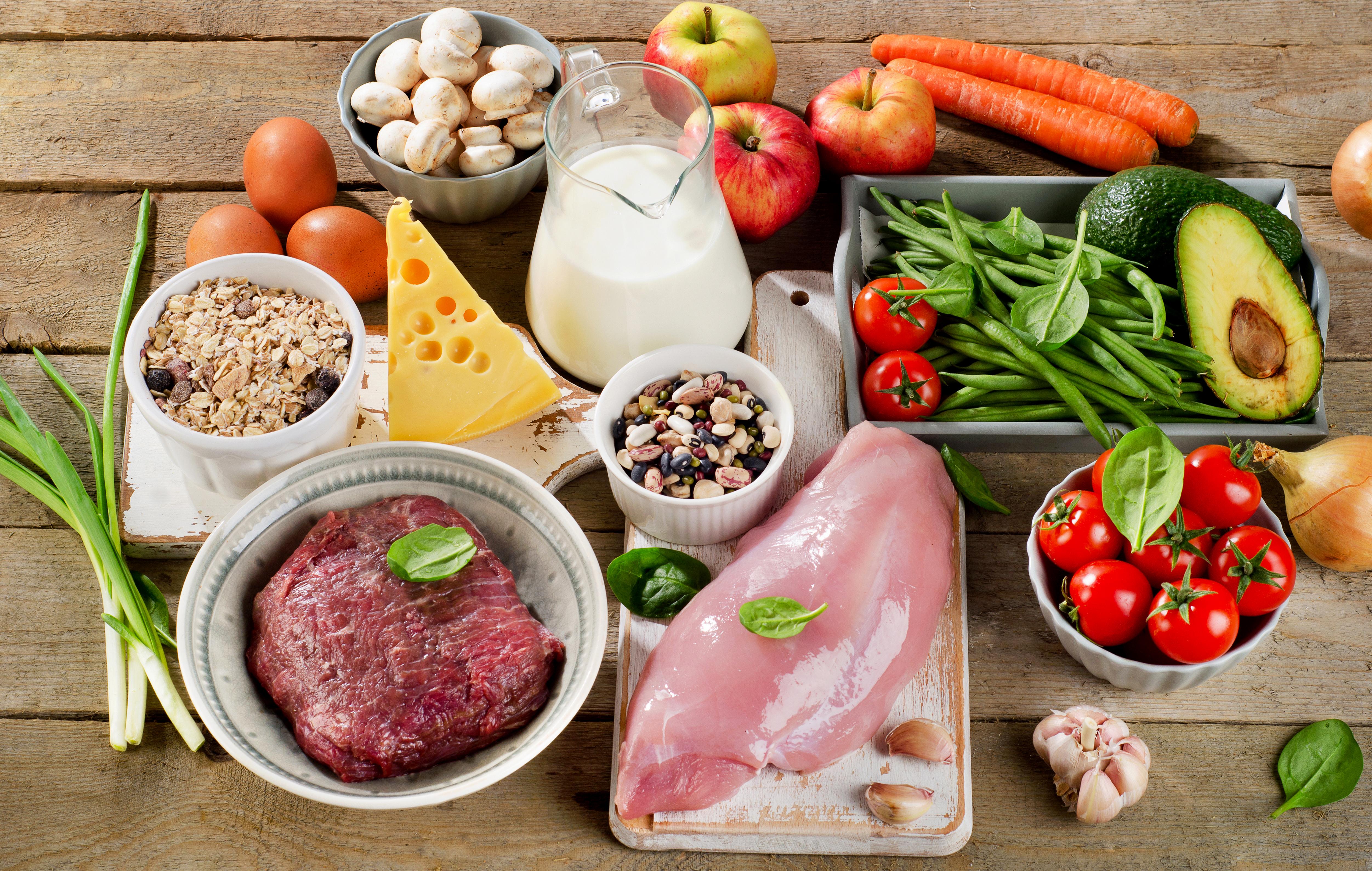 Еда важная часть сбалансированной диеты