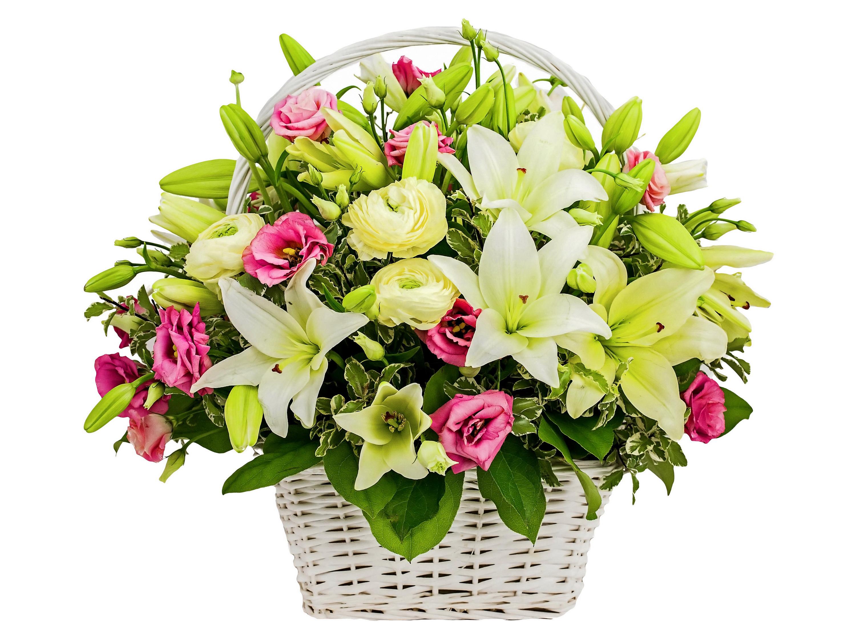 фото букет цветов лилии