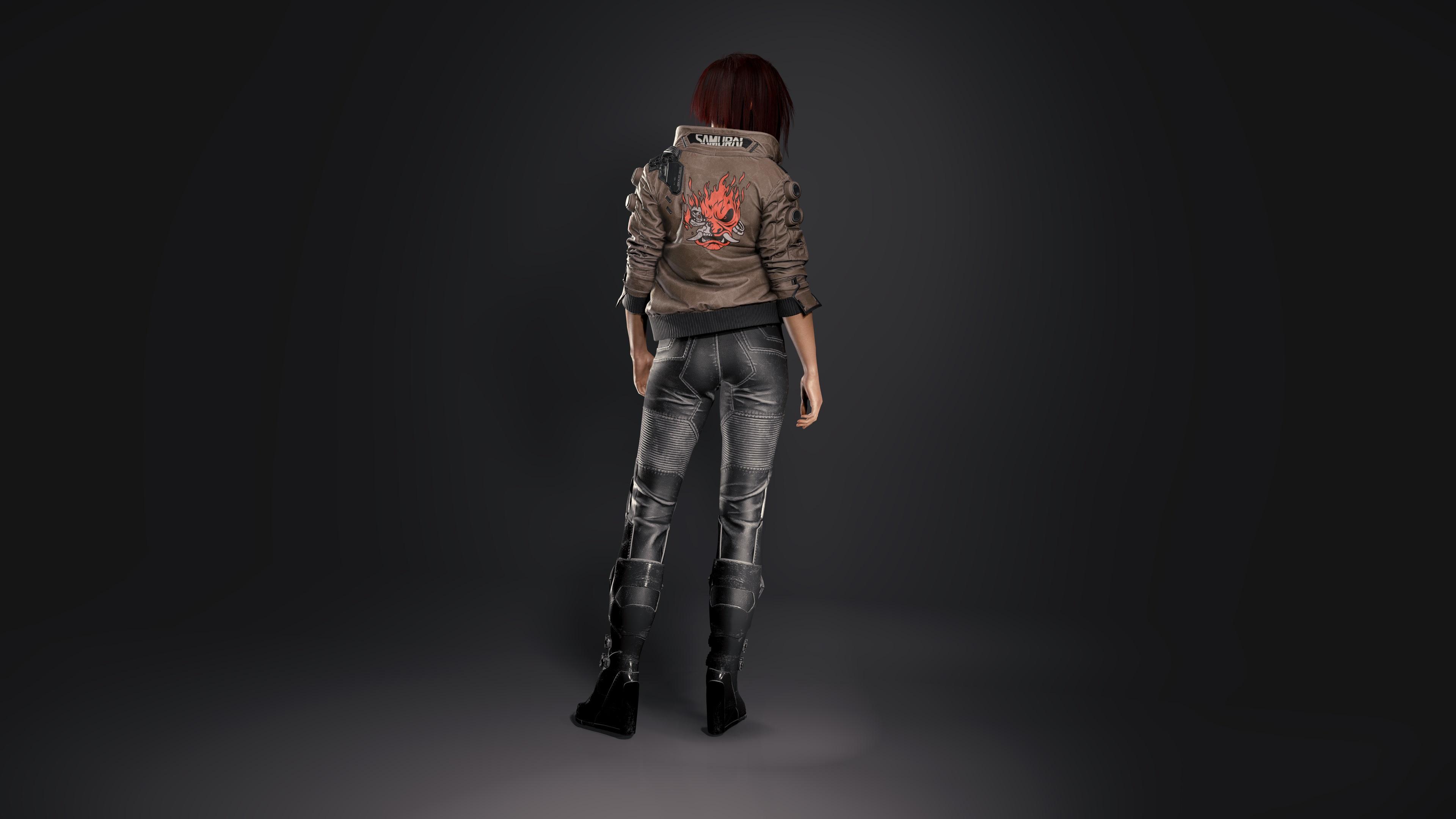 Фото Cyberpunk 2077 3д куртки молодые женщины Игры вид сзади 3840x2160 киберпанк 2077 куртке Куртка куртках девушка Девушки 3D Графика молодая женщина компьютерная игра Сзади