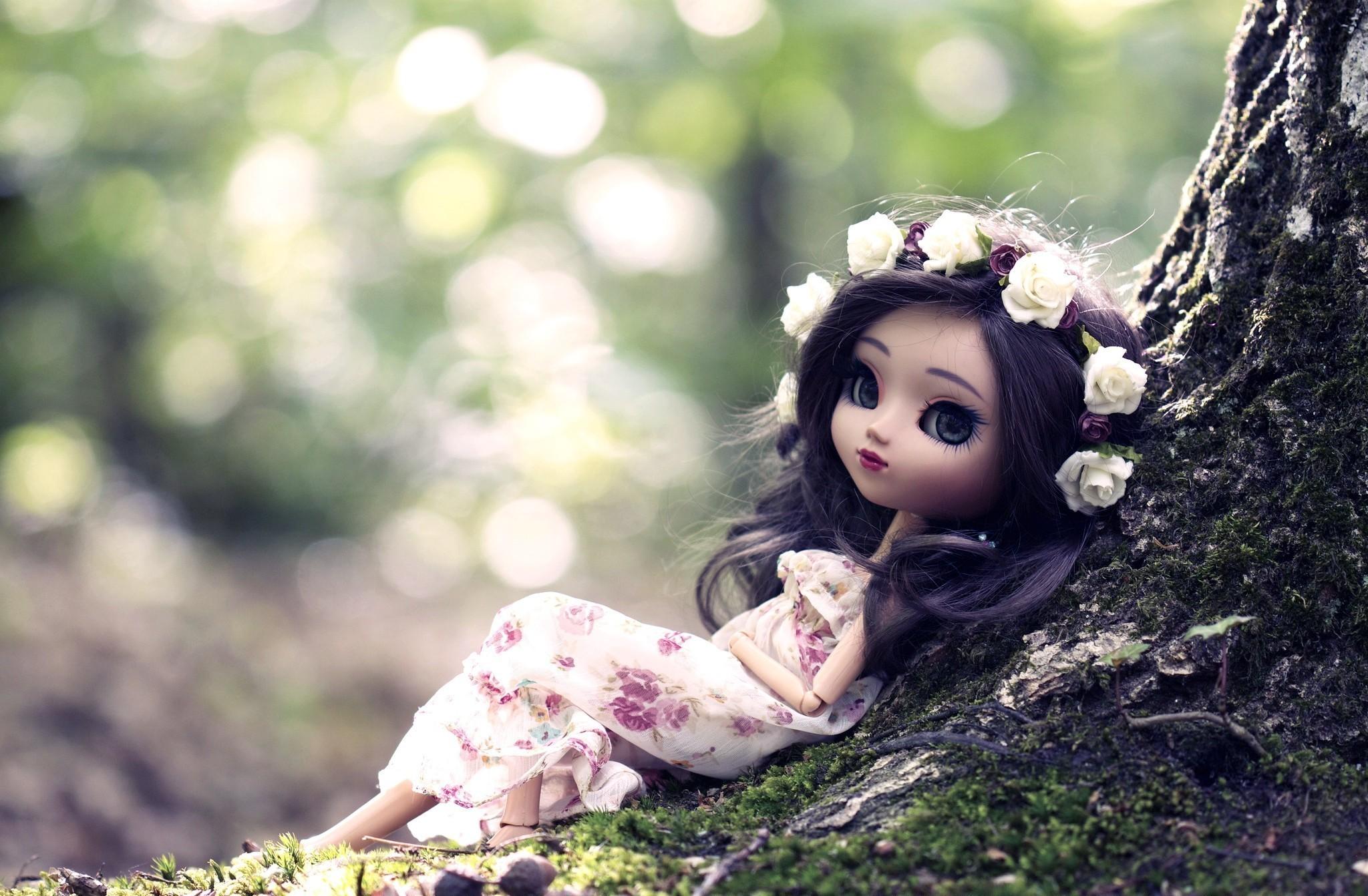 природа цветы кукла игрушка nature flowers doll toy скачать