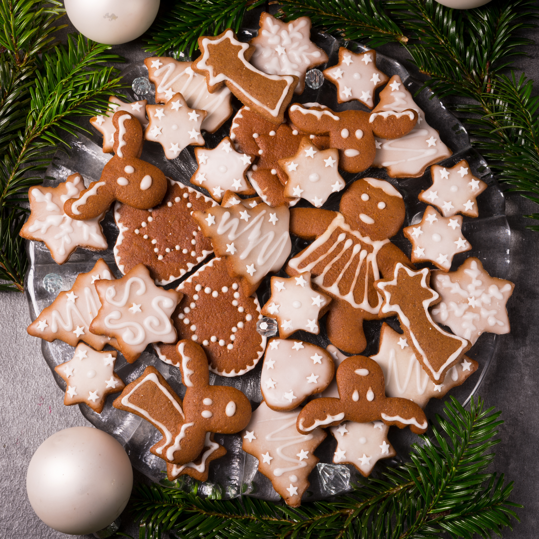 4912x4912 Новый год Выпечка Печенье Дизайн Шарики Пища, Продукты, Рождество, Шар Еда