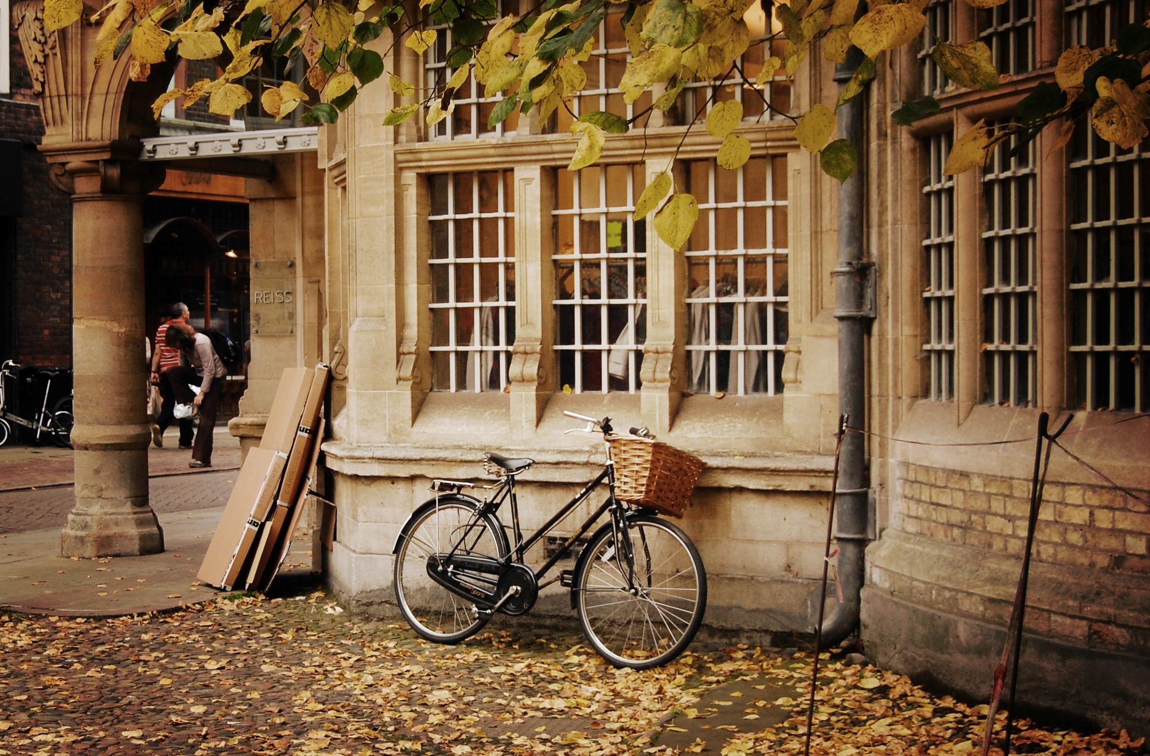 Велосипед в центре города загрузить
