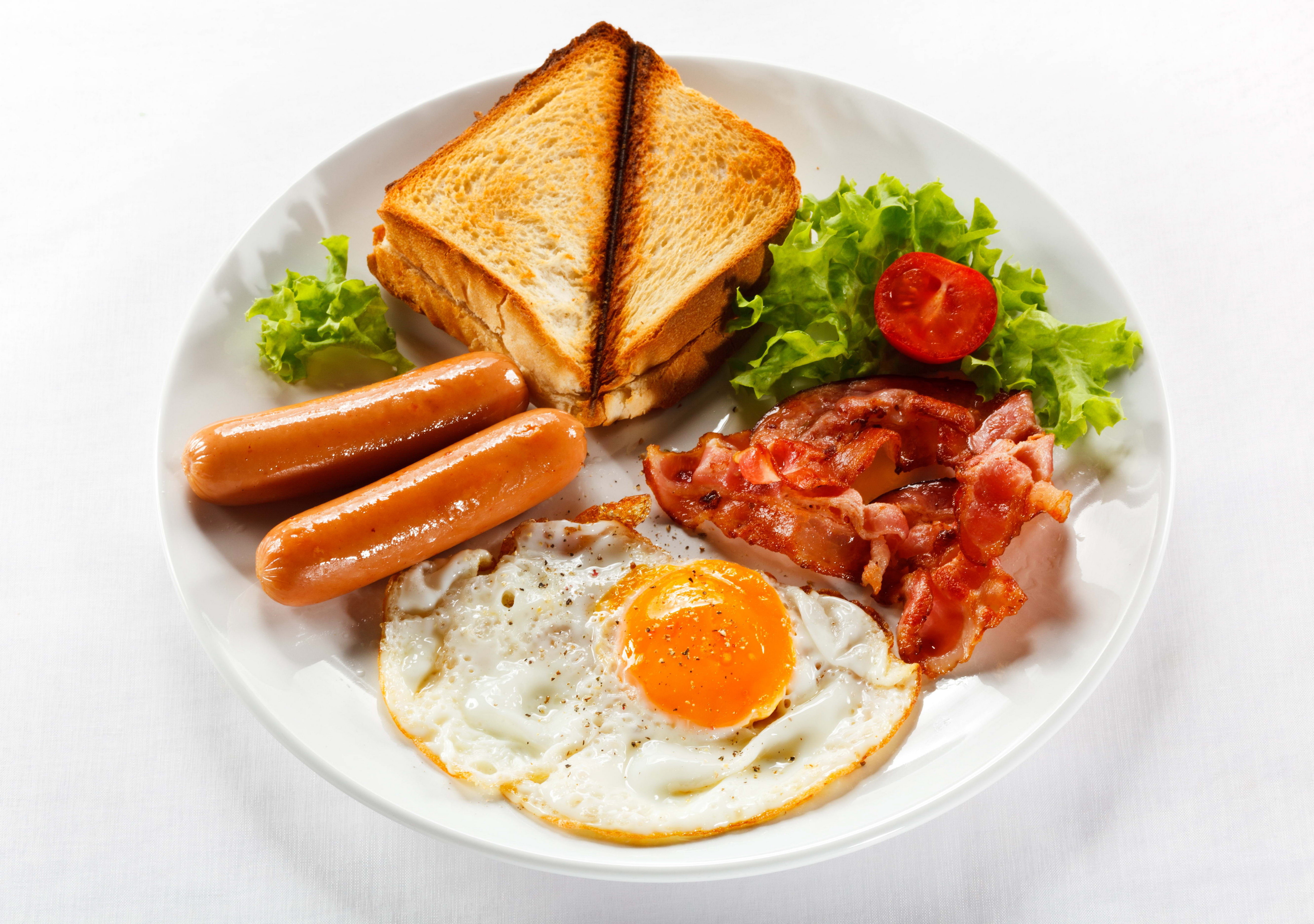 тарелка тосты завтрак plate toast Breakfast бесплатно