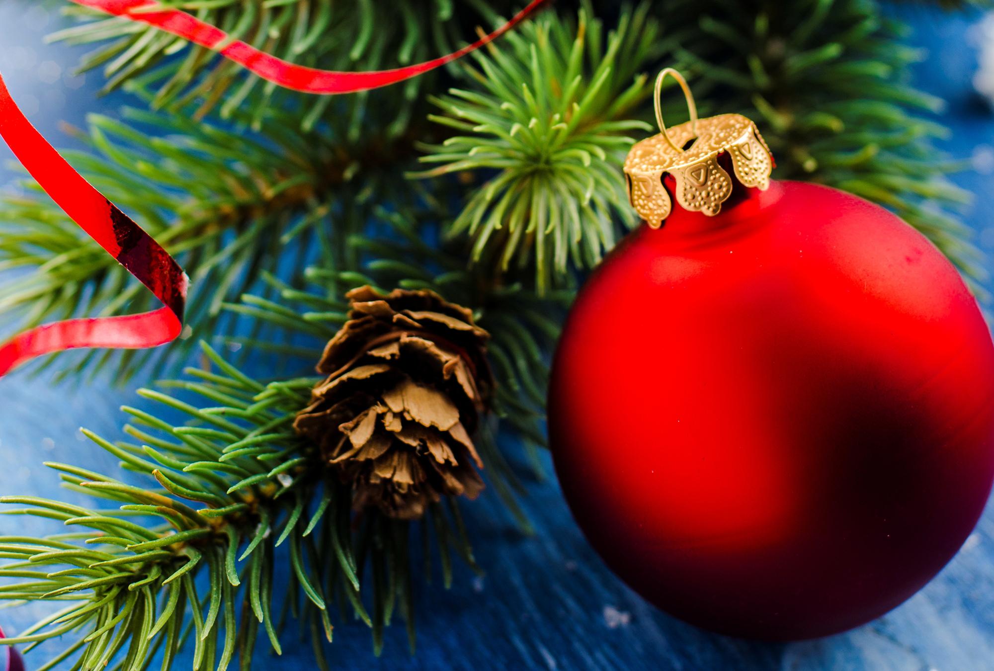 шар новый год красный ель ball new year red spruce бесплатно