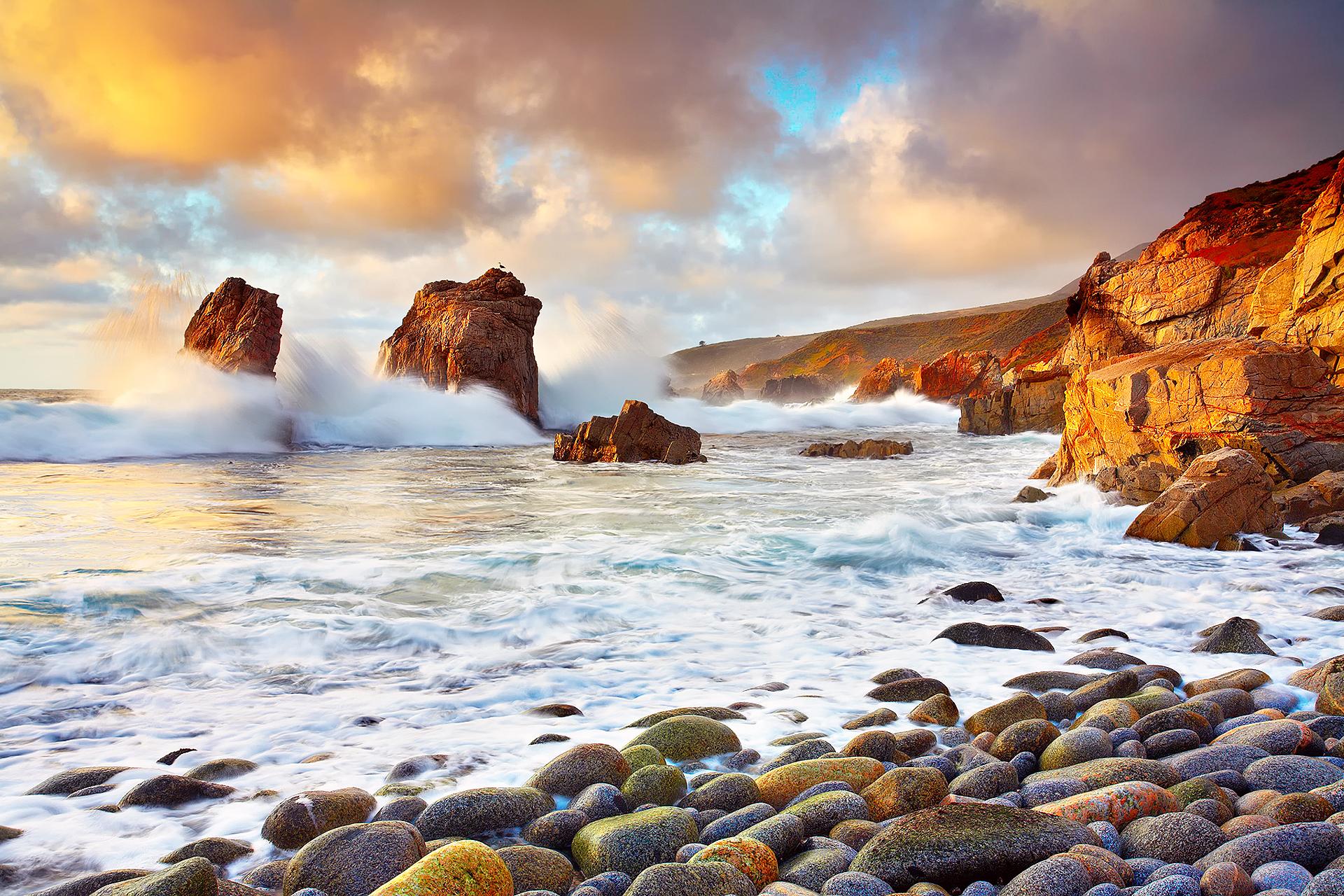 каменистый ландшафт прибой небо загрузить