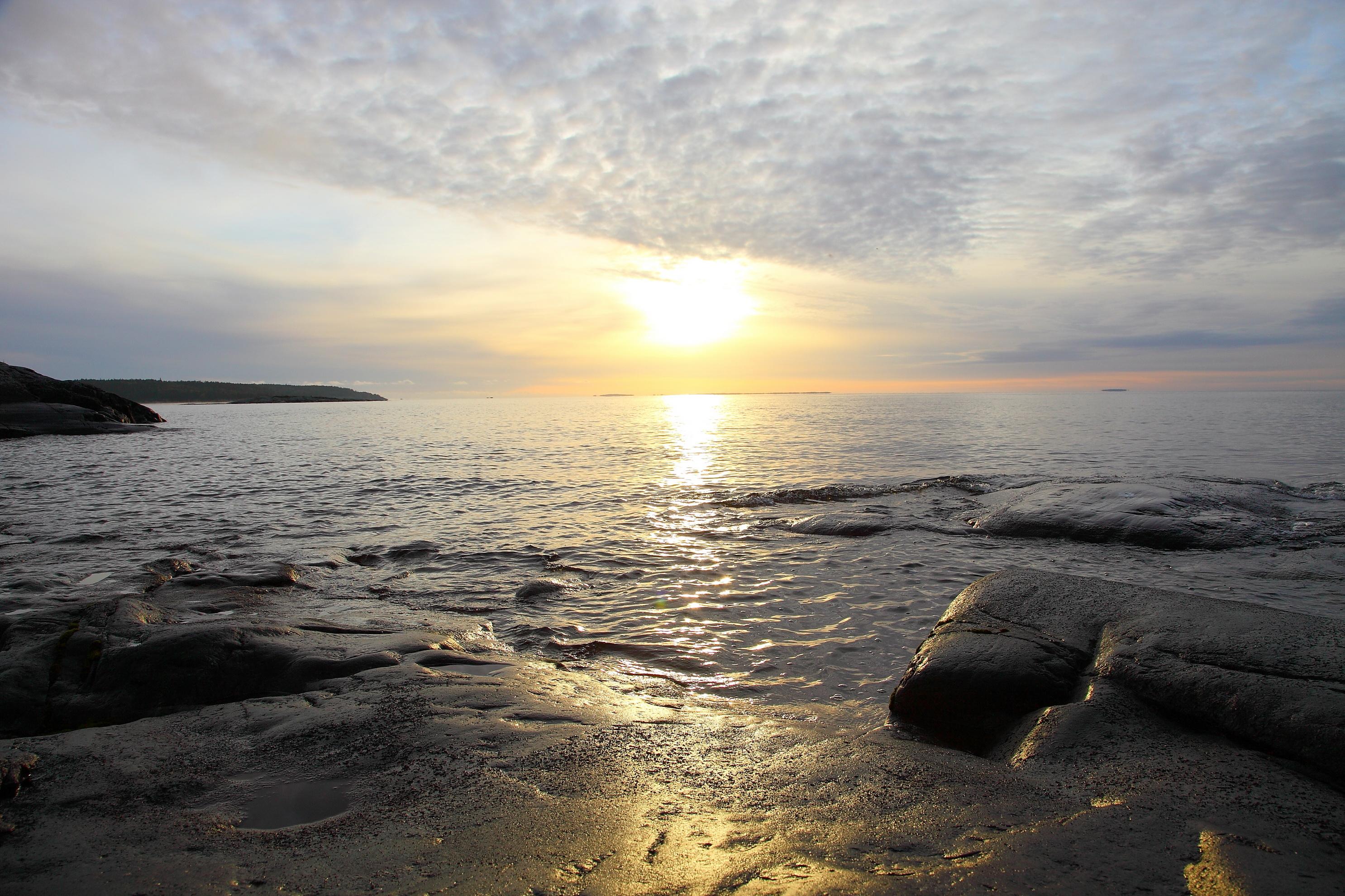 природа море горизонт nature sea horizon скачать