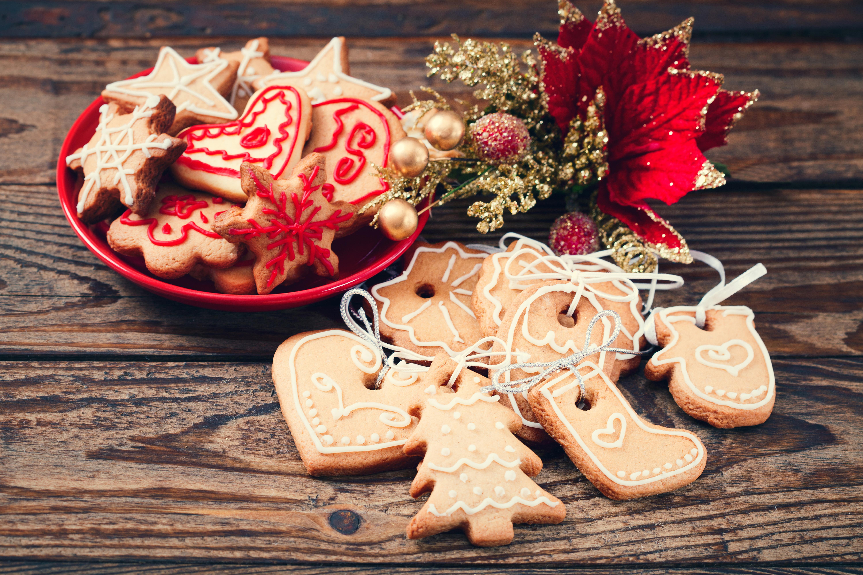 Фотография Листва Новый год Еда Печенье Доски Дизайн 6004x4000 лист Листья Рождество Пища Продукты питания дизайна