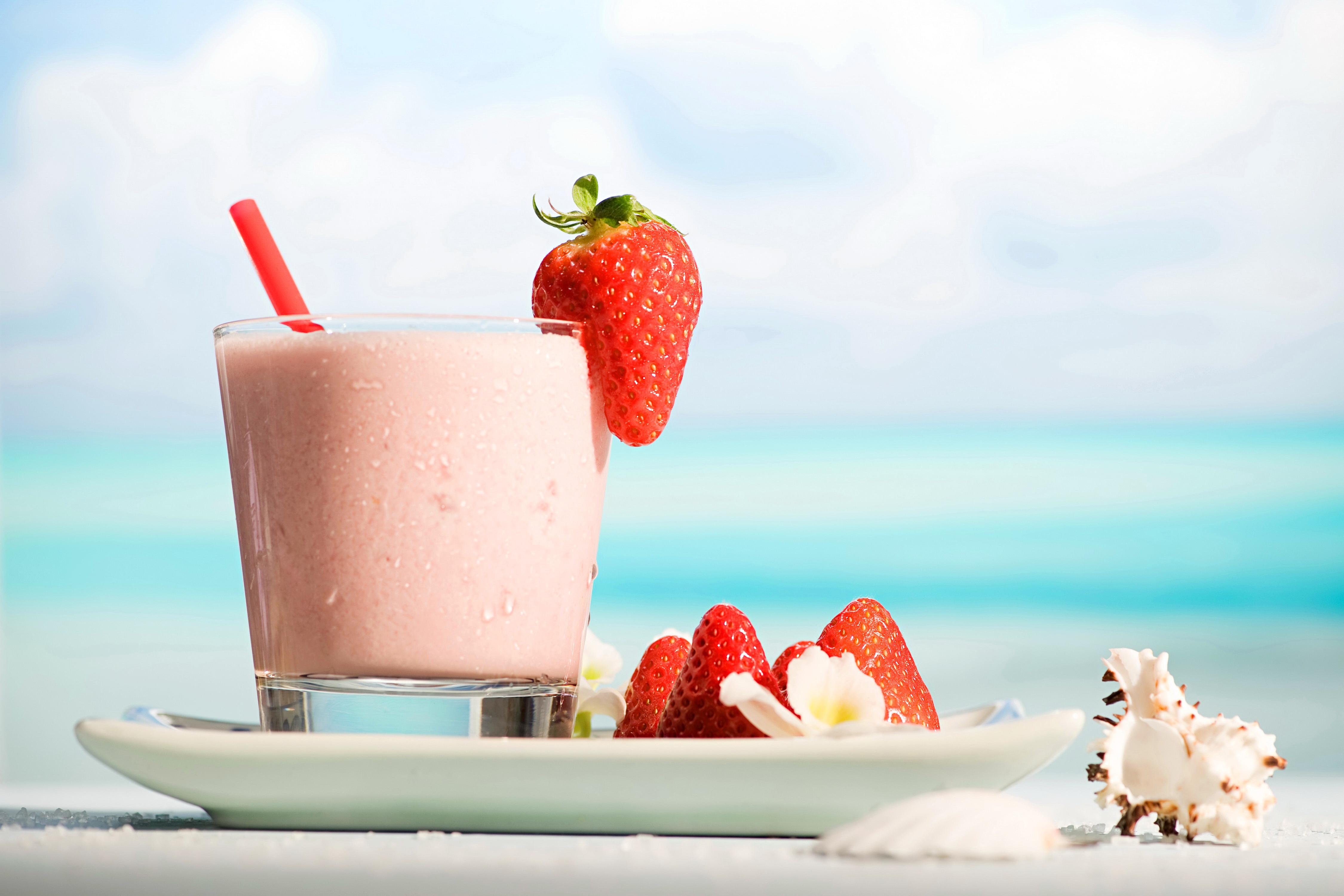 еда коктейль клубничный food cocktail strawberry скачать