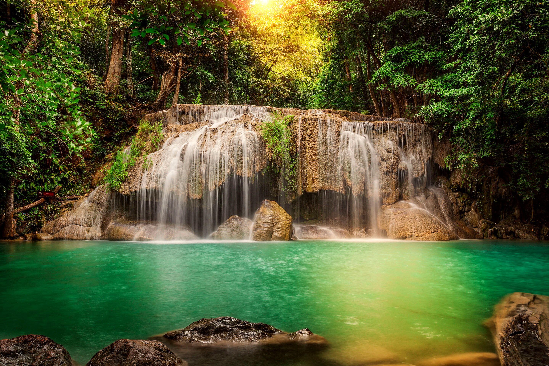 природа деревья река лодки Тайланд страны бесплатно