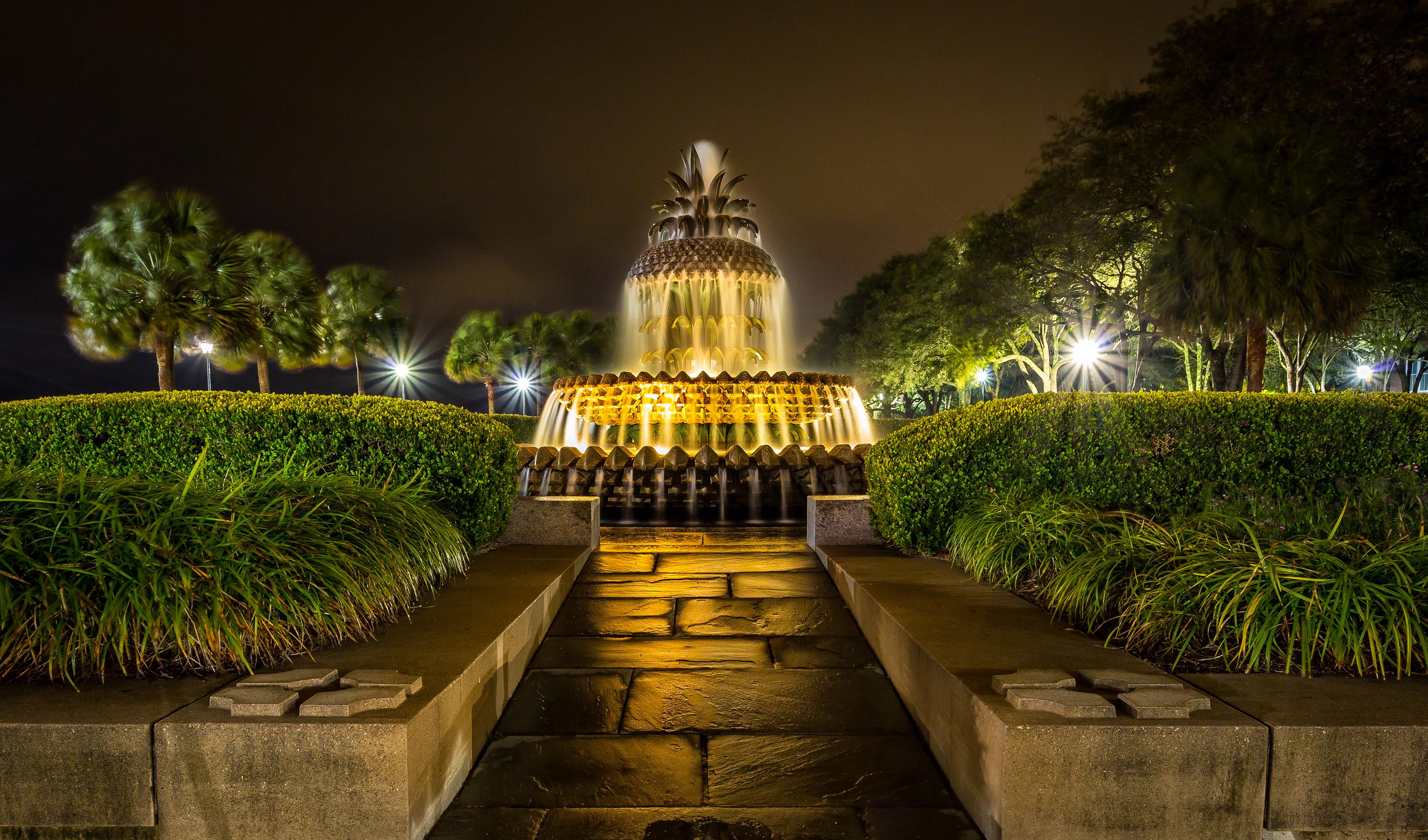 Ночной пак с фонтанами бесплатно