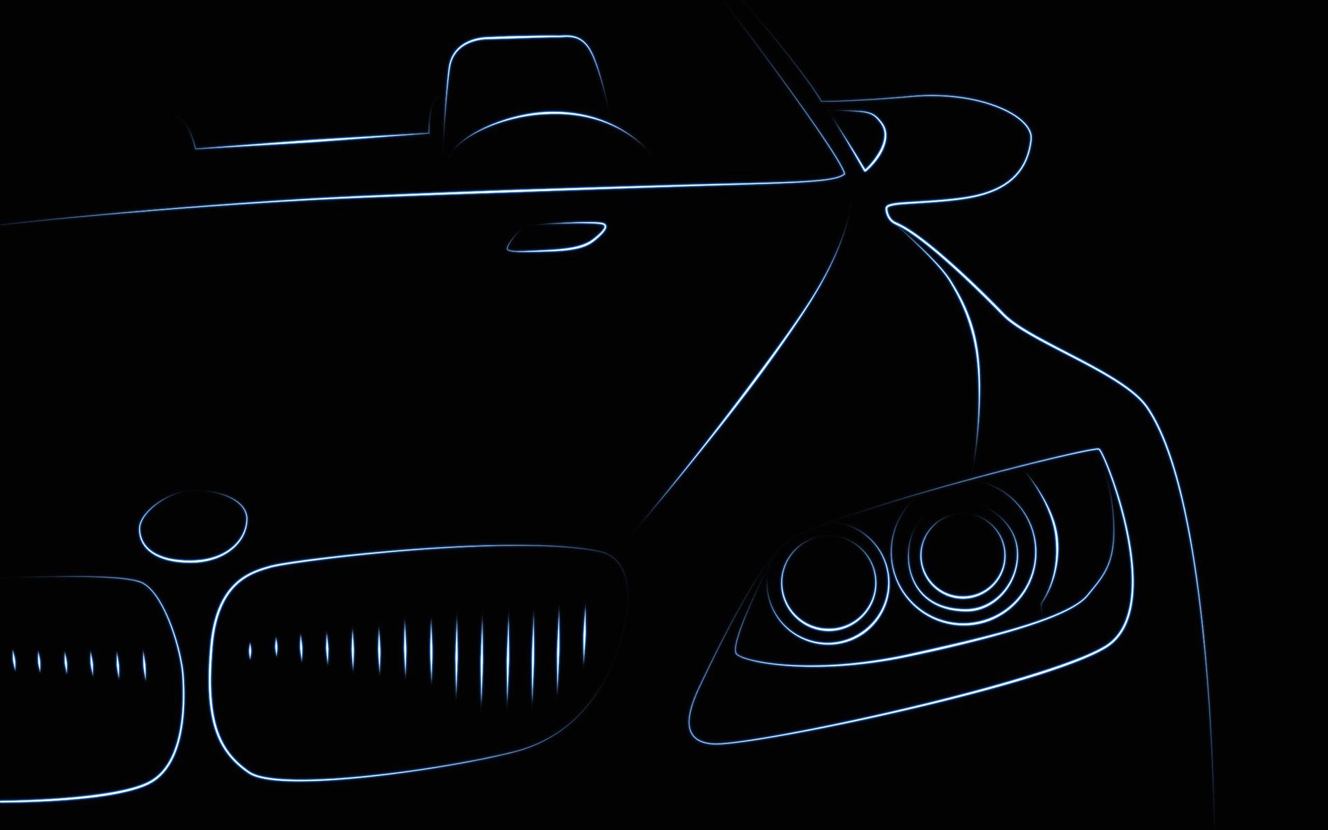 Картинка BMW Фары Спереди Автомобили Рисованные Векторная графика БМВ фар авто машины машина автомобиль