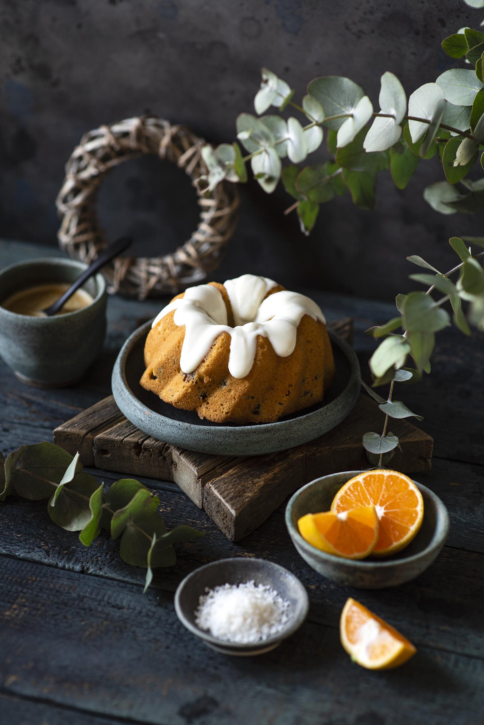Фотография Кекс Апельсин Сахарная глазурь Продукты питания Доски  для мобильного телефона Еда Пища