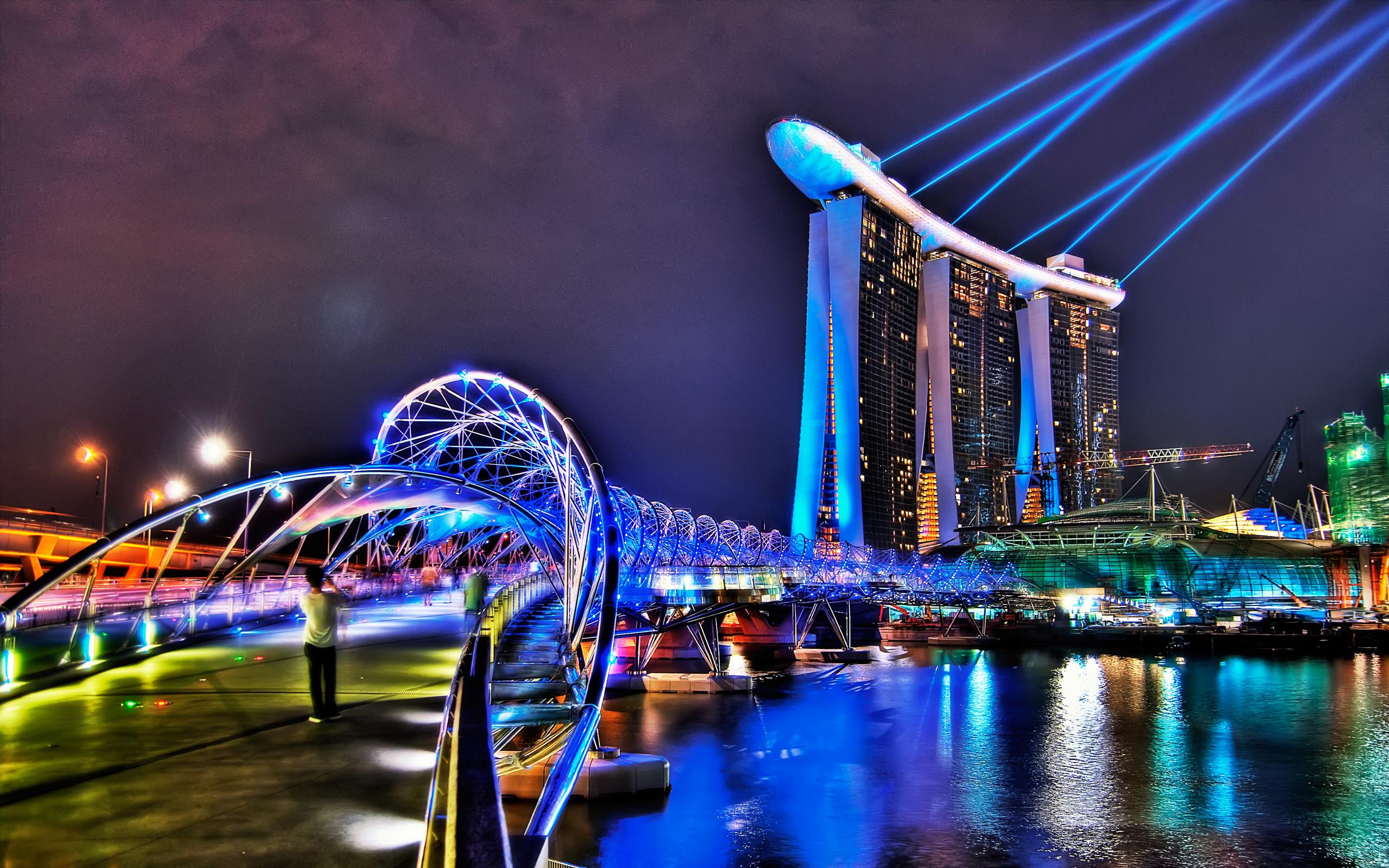 Сингапур ночь освещение без смс