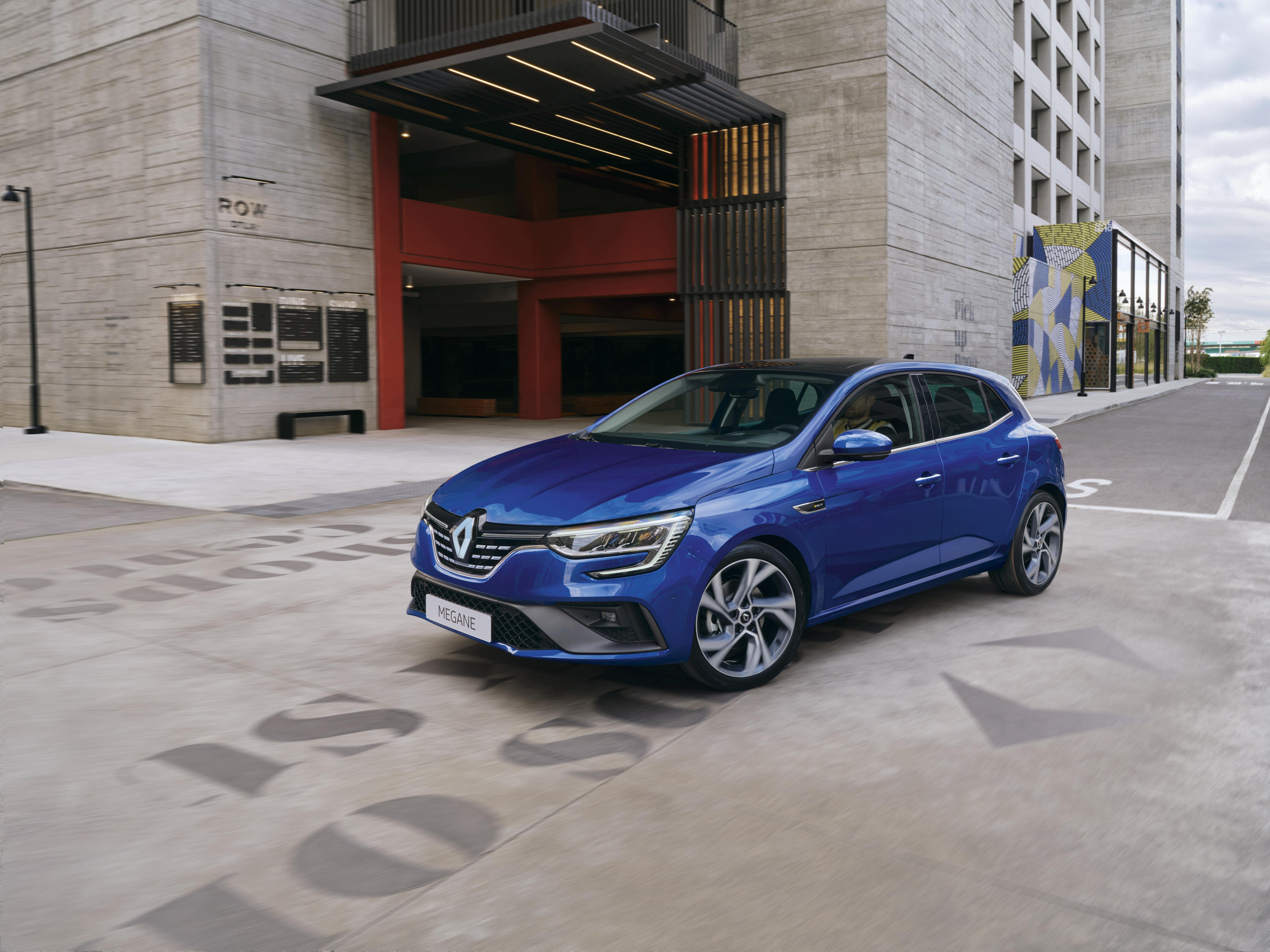 Фотографии Рено 2020 Mégane R.S. Line Worldwide синие авто Металлик 7200x5400 Renault синяя Синий синих машина машины Автомобили автомобиль